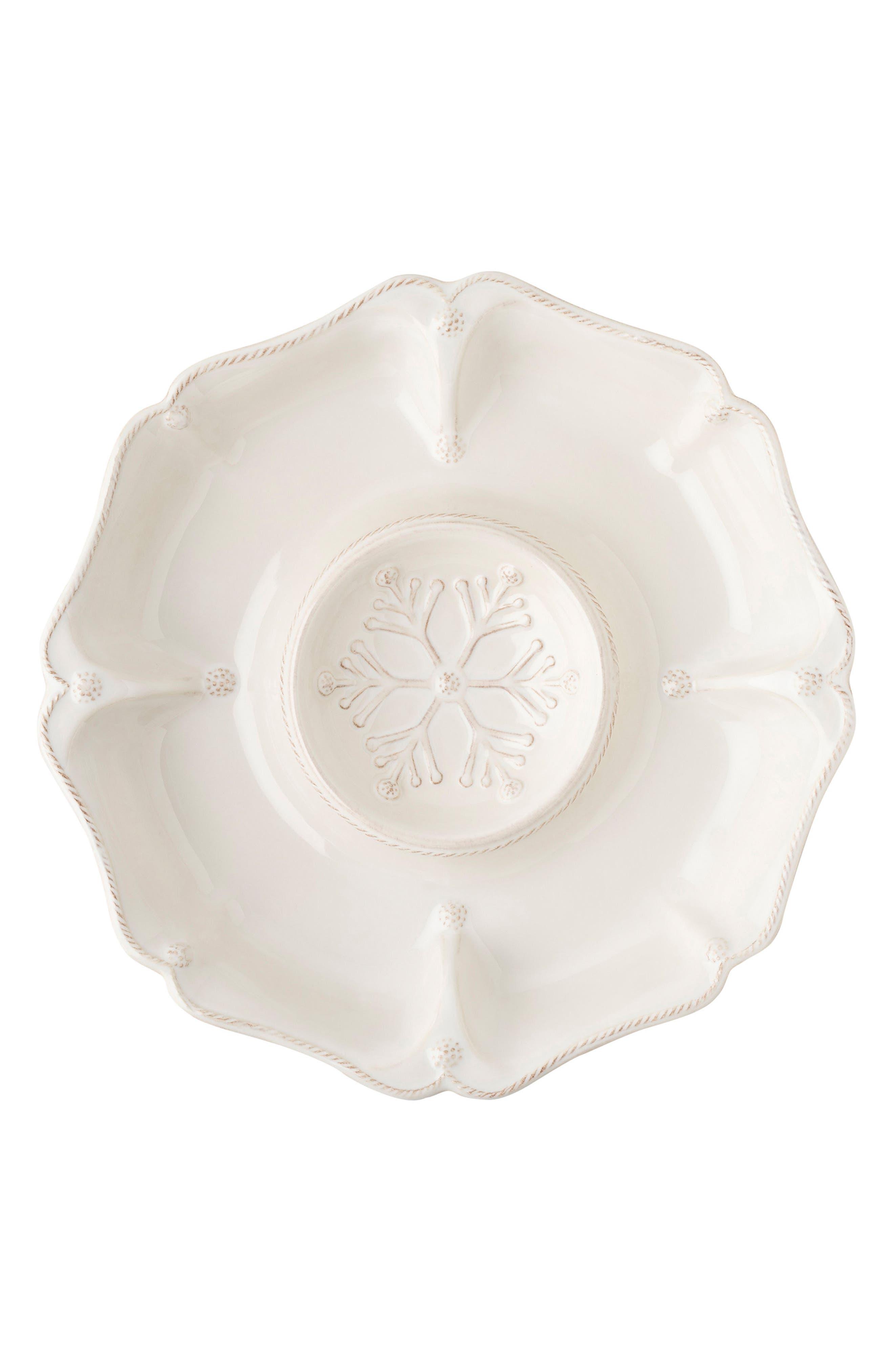 Main Image - Juliska Berry & Thread Ceramic Hors D'Oeuvres Serving Tray