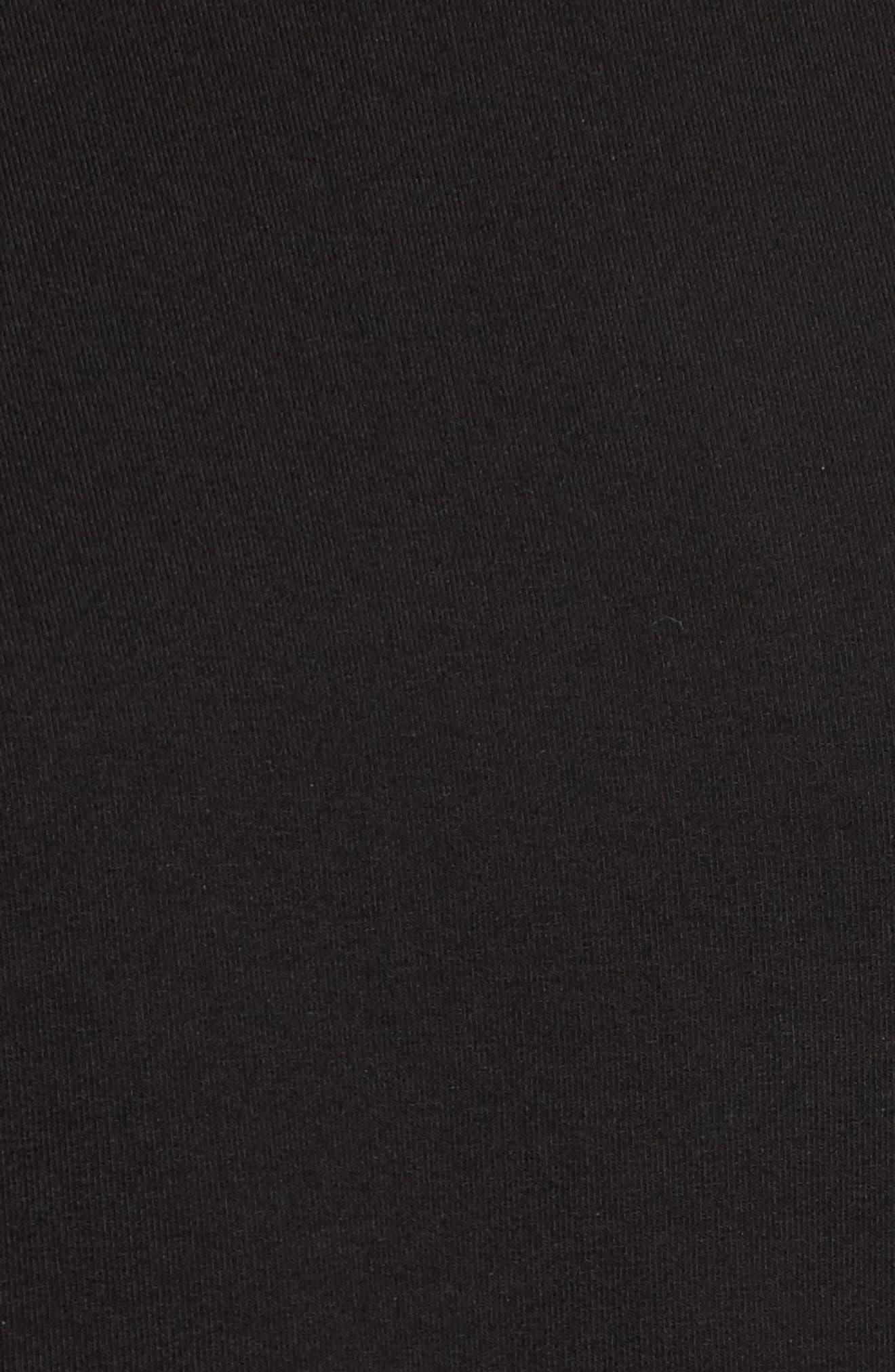 Grommet Tie Sleeve Sweatshirt,                             Alternate thumbnail 5, color,                             Black