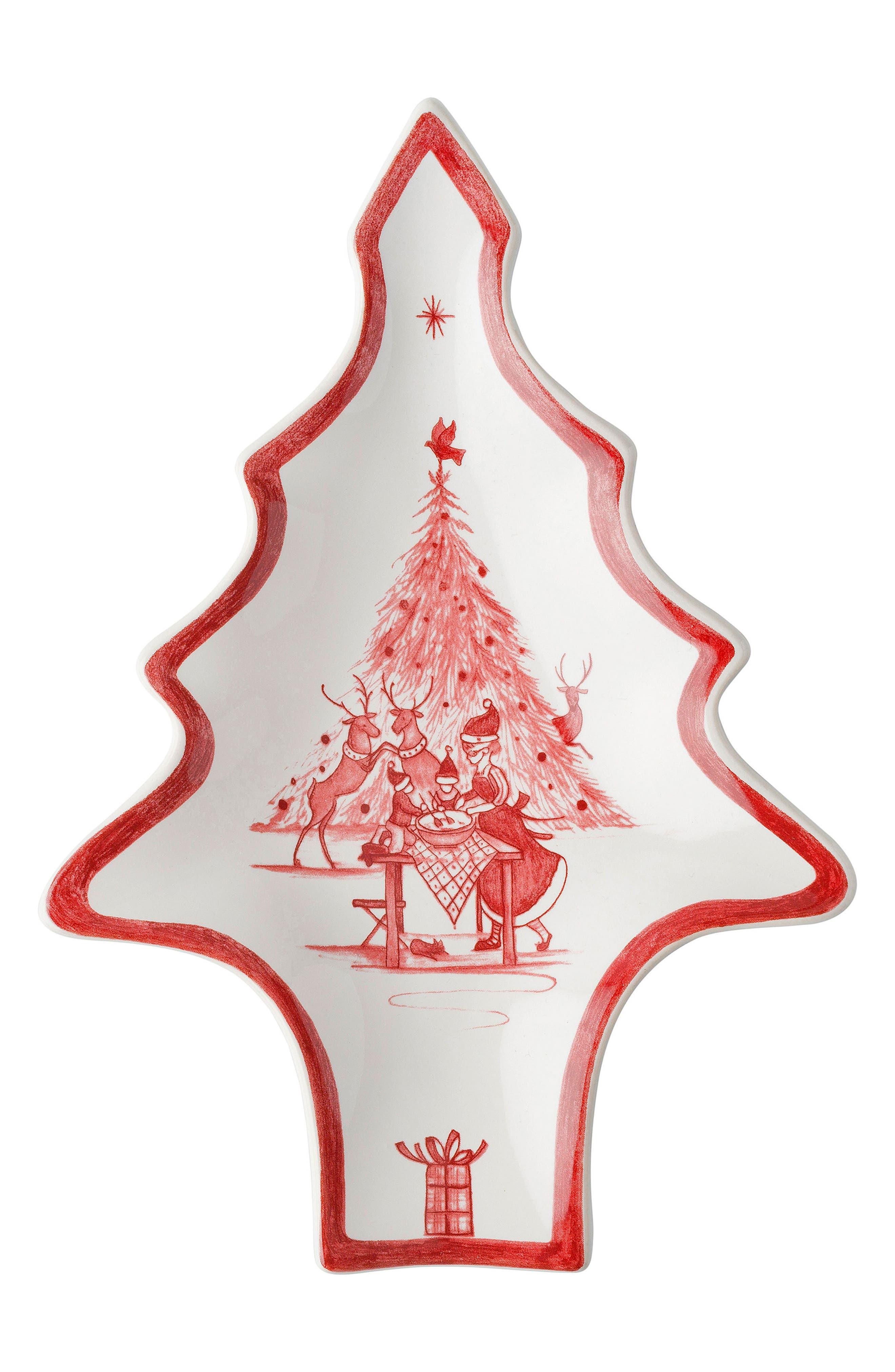 Juliska Winter Frolic Ceramic Tree Tray