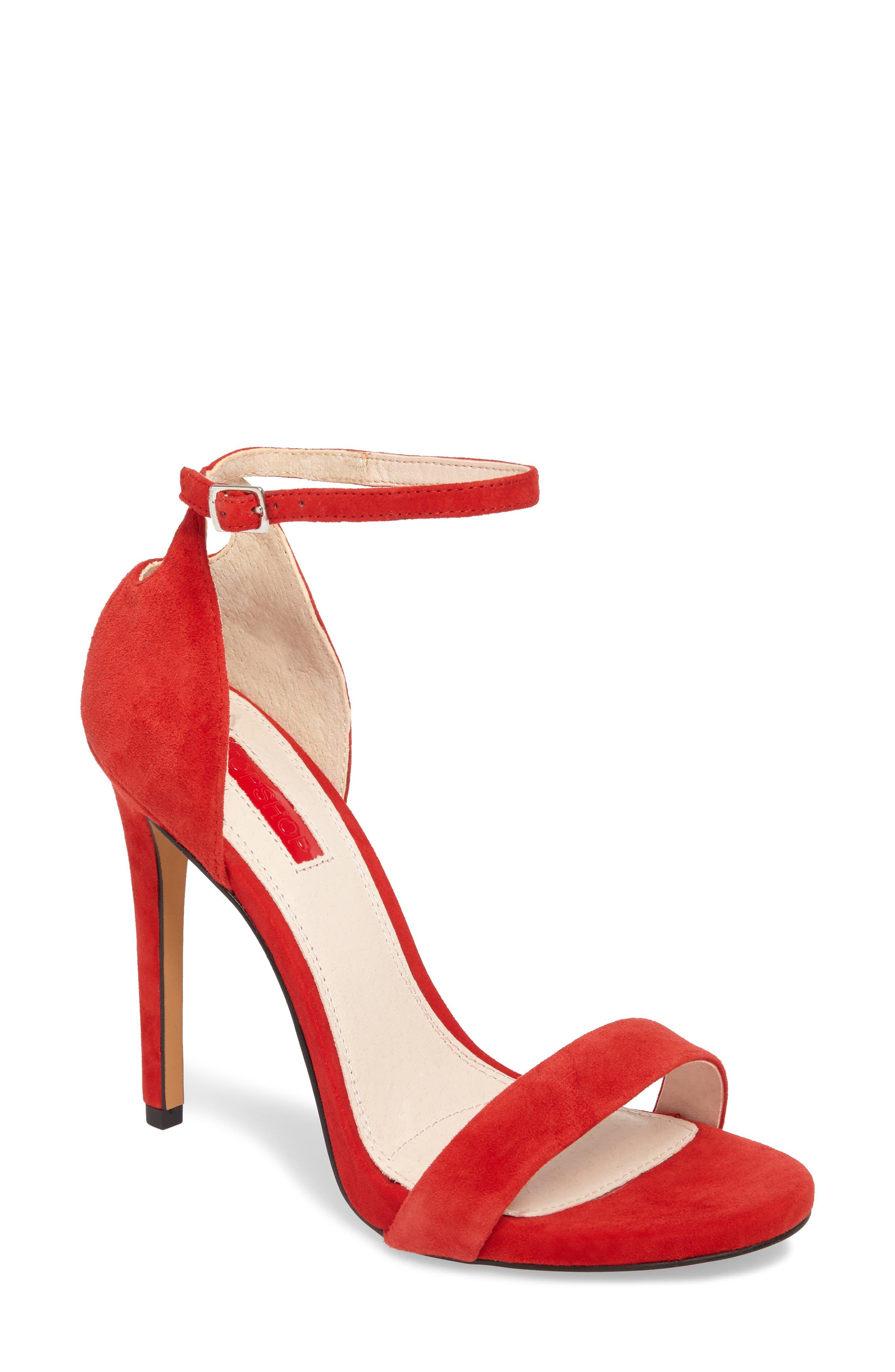 Main Image - Topshop Raphie Ankle Strap Sandal (Women)