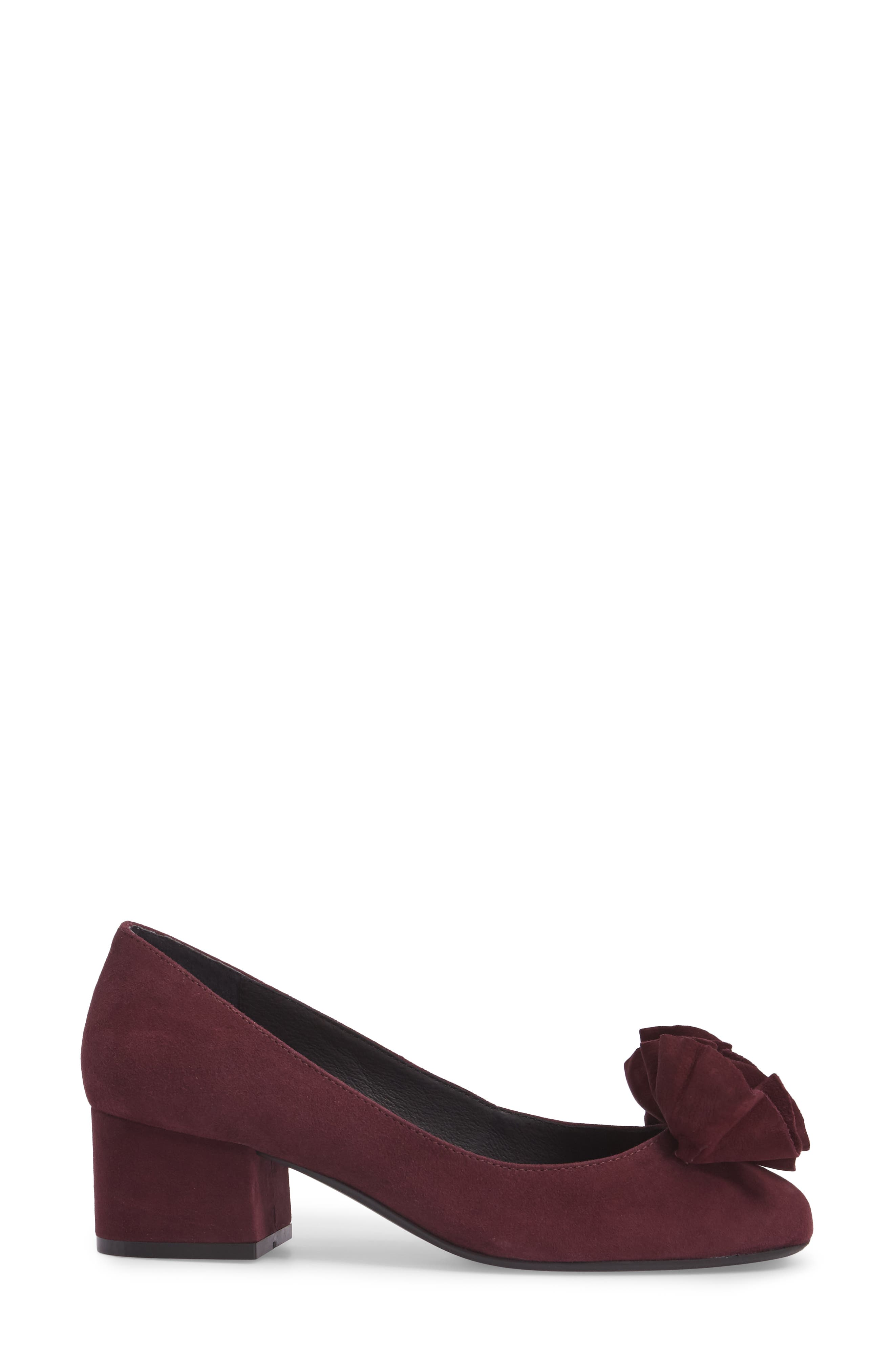 Lilly Pump,                             Alternate thumbnail 3, color,                             Chianti Suede