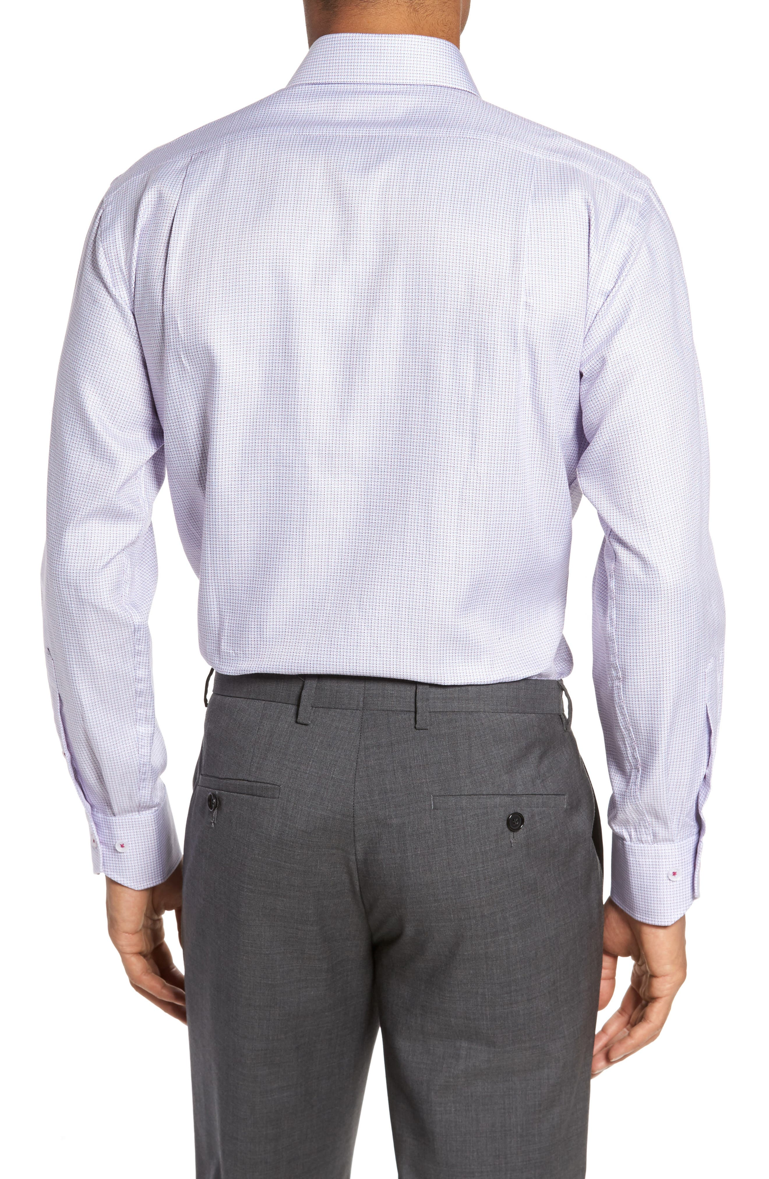Alternate Image 3  - Lorenzo Uomo Trim Fit Textured Check Dress Shirt