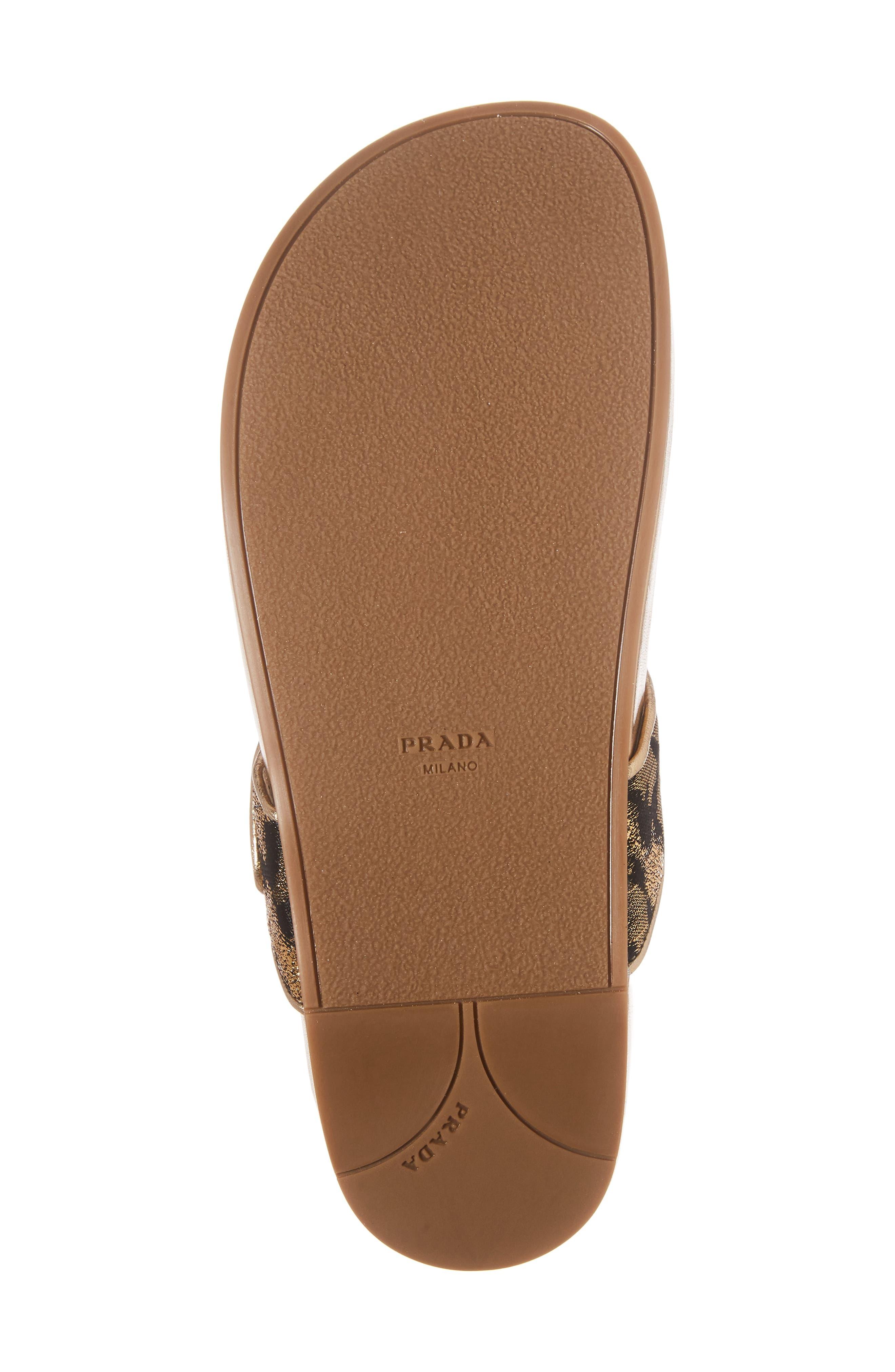Alternate Image 5  - Prada Glitter Thong Sandal (Women)