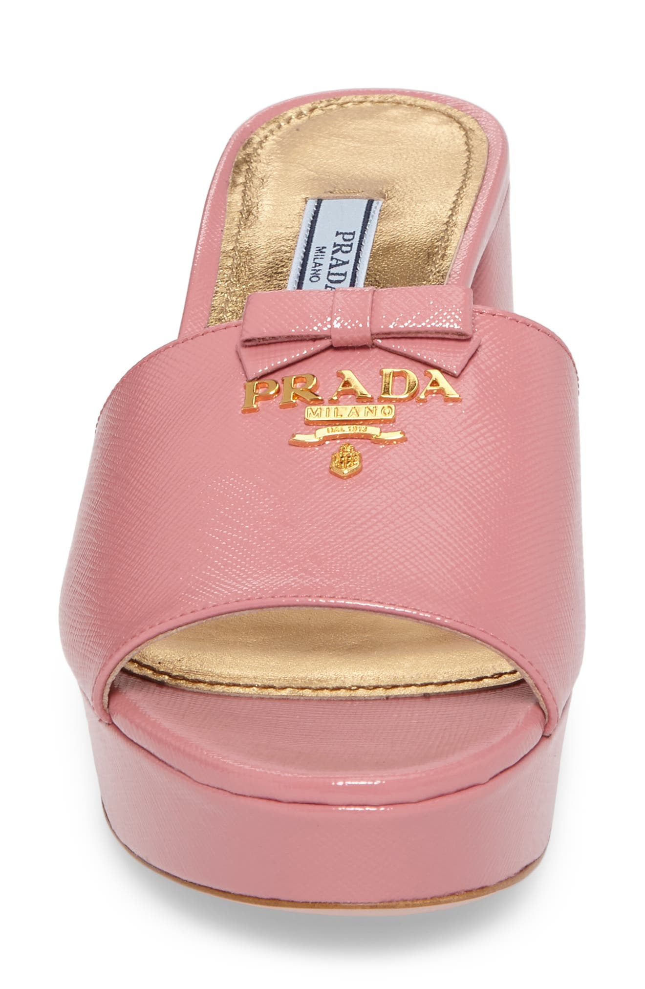 Alternate Image 4  - Prada Logo Block Heel Mule (Women)