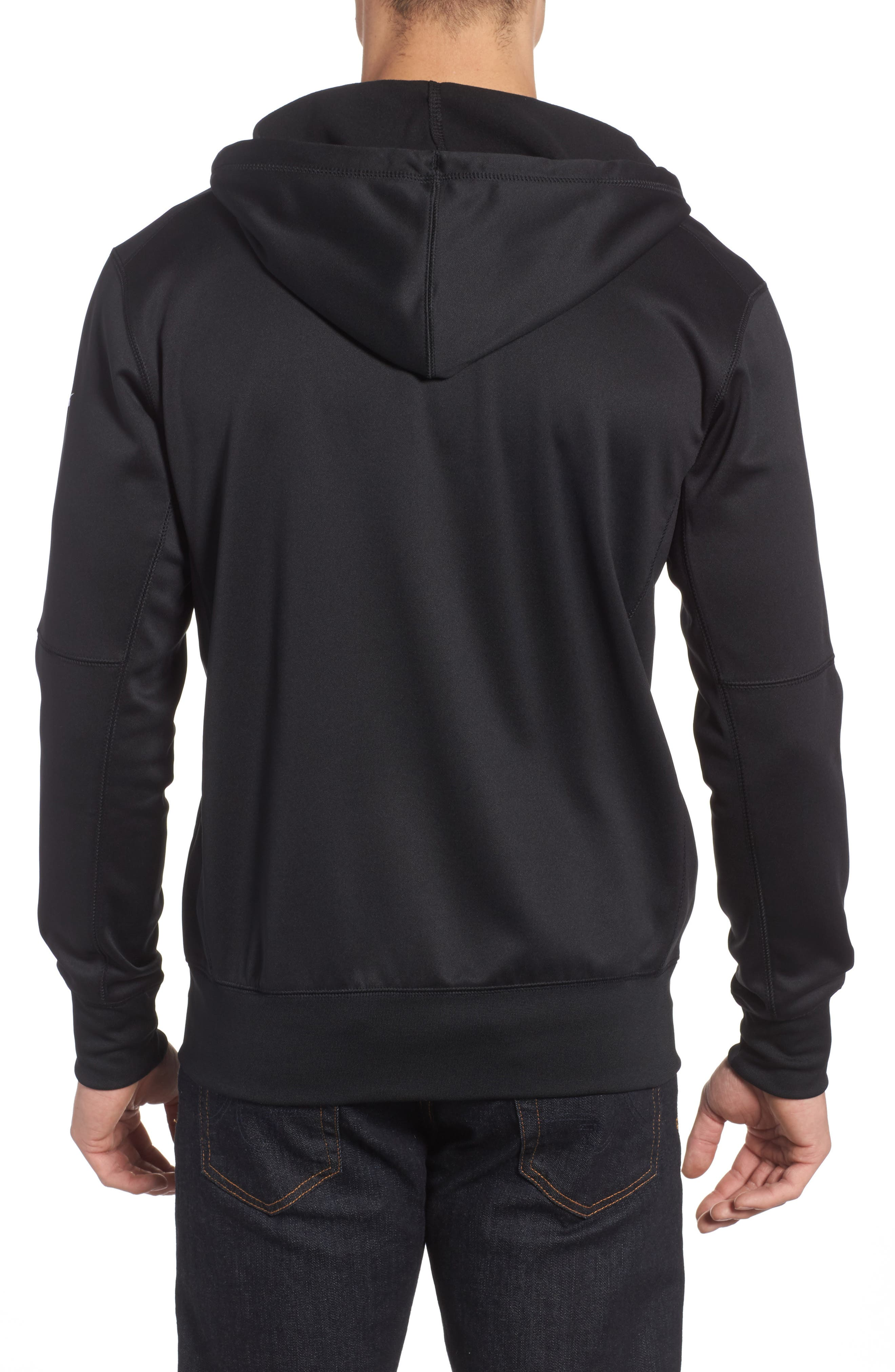 Therma-FIT NFL Graphic Zip Hoodie,                             Alternate thumbnail 2, color,                             Raiders