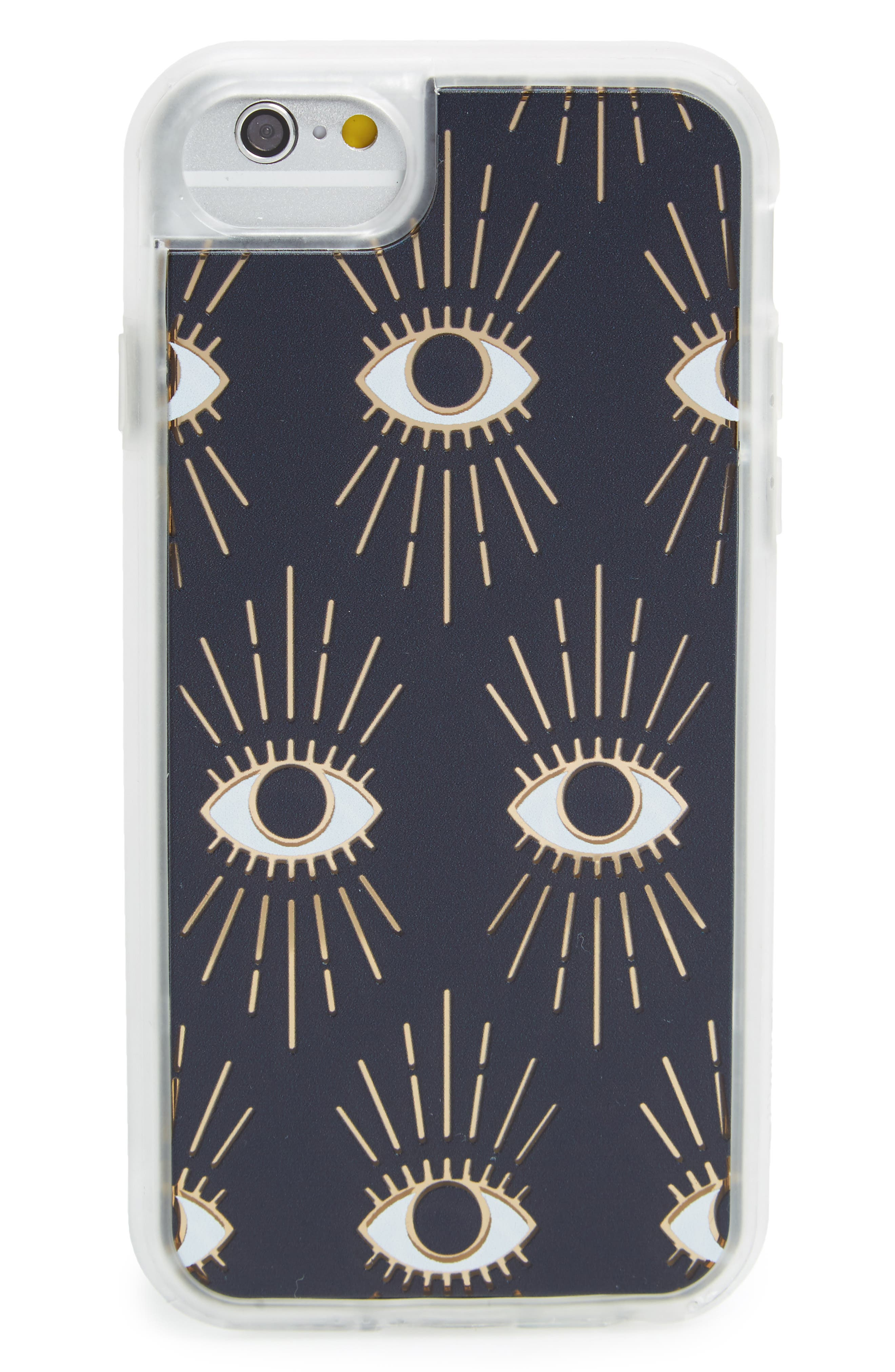 The Eye iPhone 6/6s/7 Case,                         Main,                         color, Black / Gold