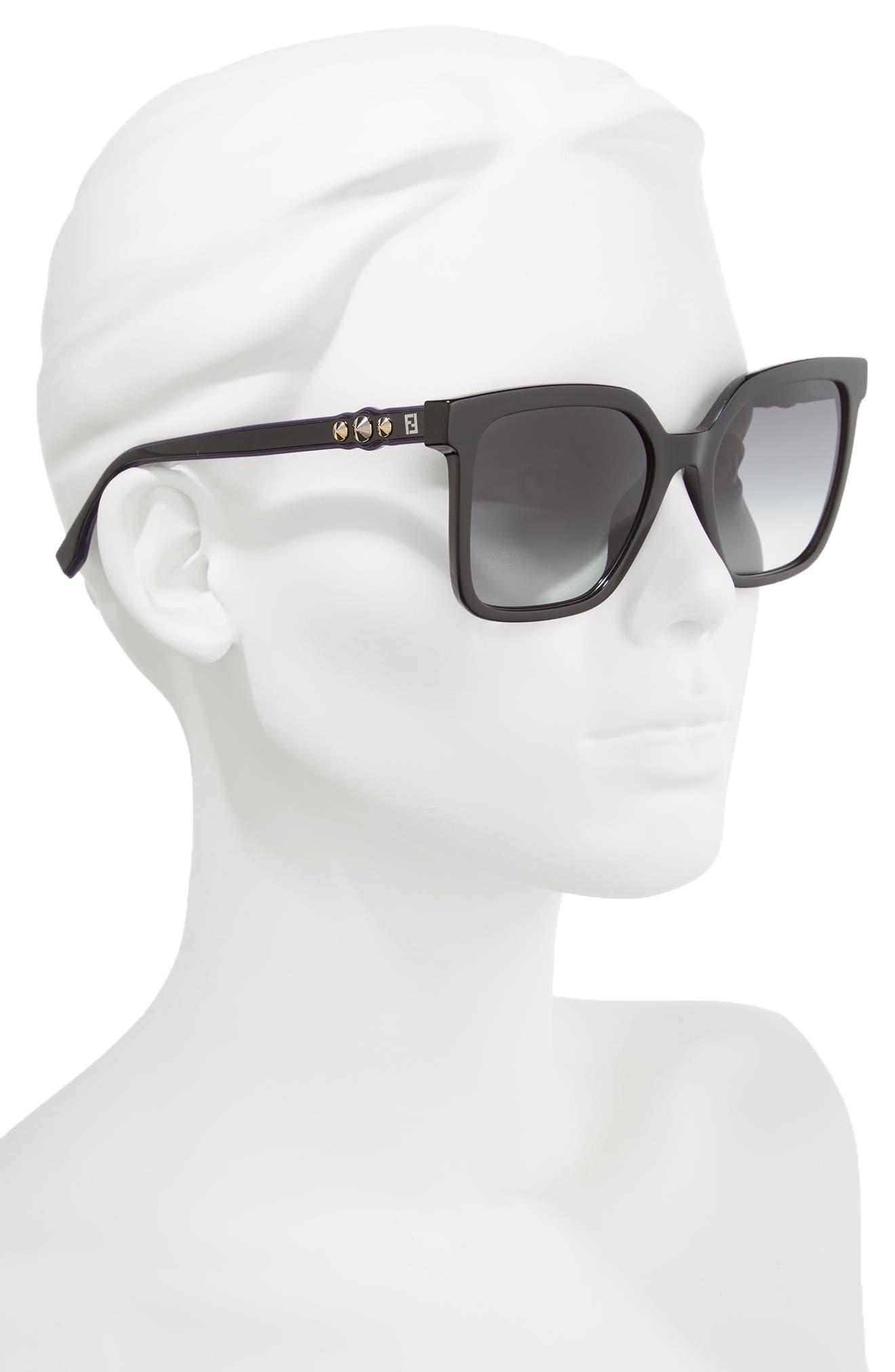 Alternate Image 2  - Fendi 54mm Square Sunglasses