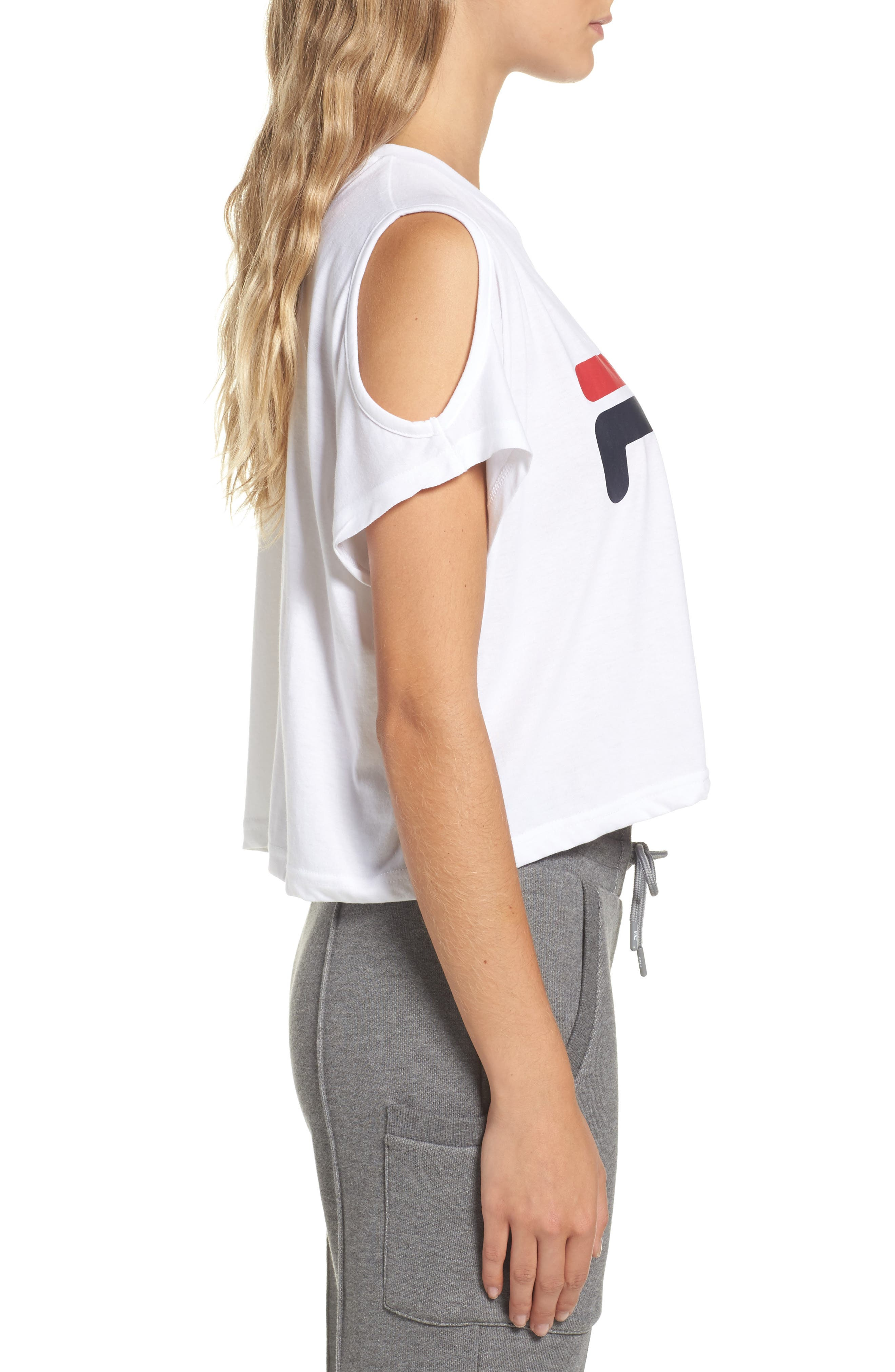 Alternate Image 3  - FILA Nikki Cold Shoulder Crop Tee