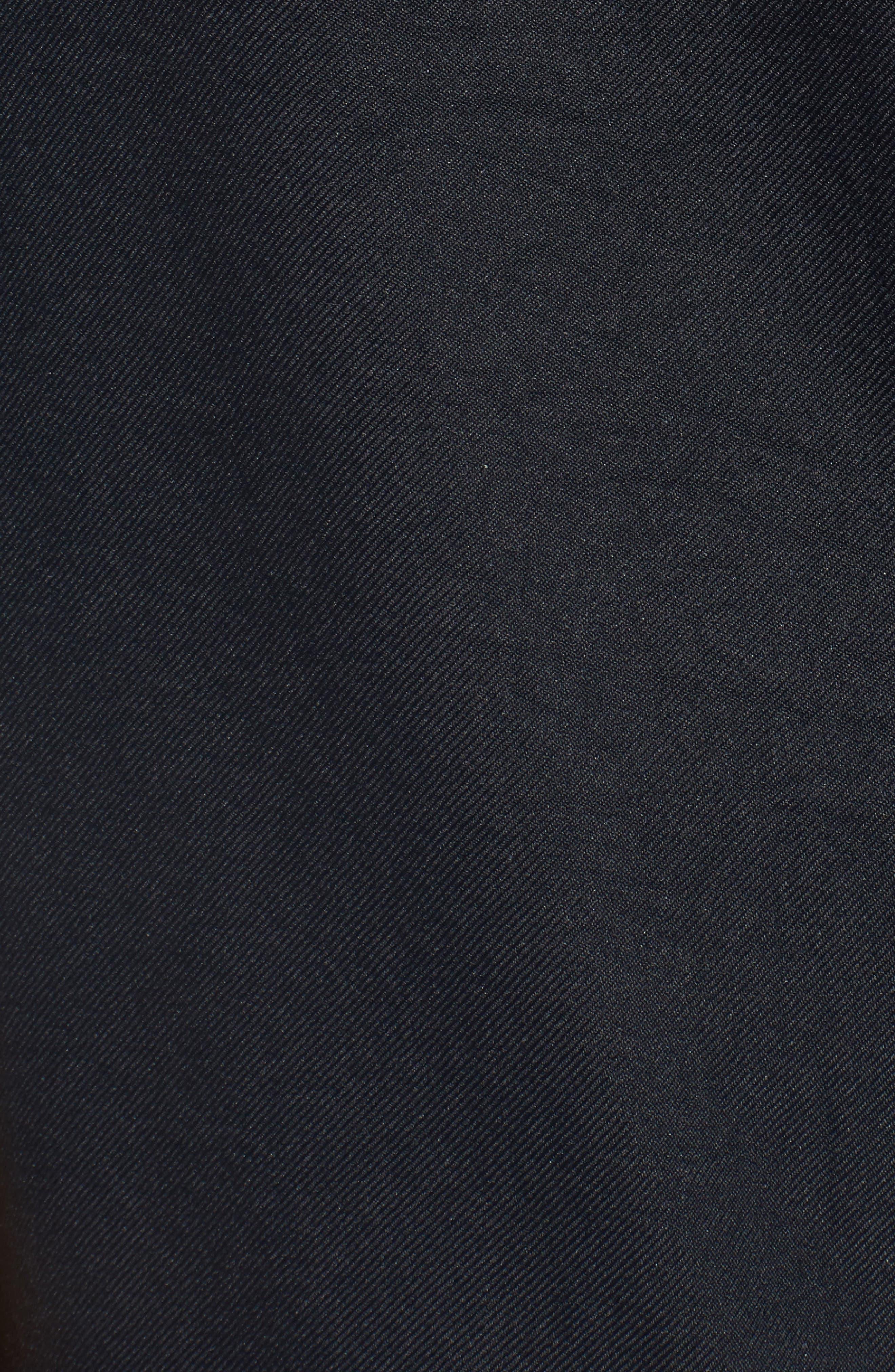 Zip Cocoon Dress,                             Alternate thumbnail 5, color,                             Black