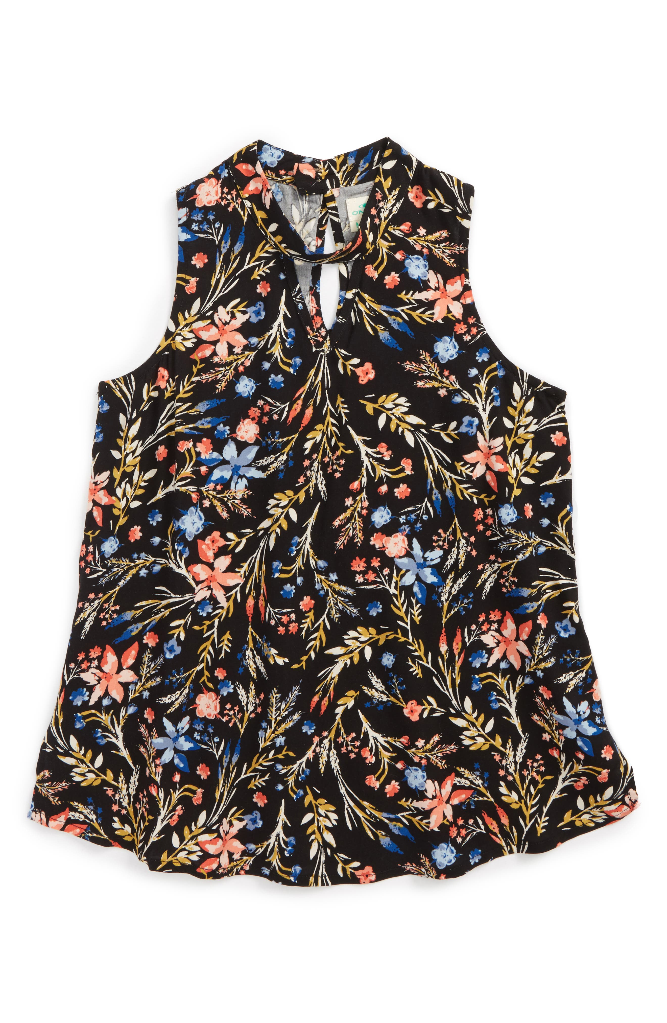 O'Neill Indo Floral Print Woven Top (Big Girls)