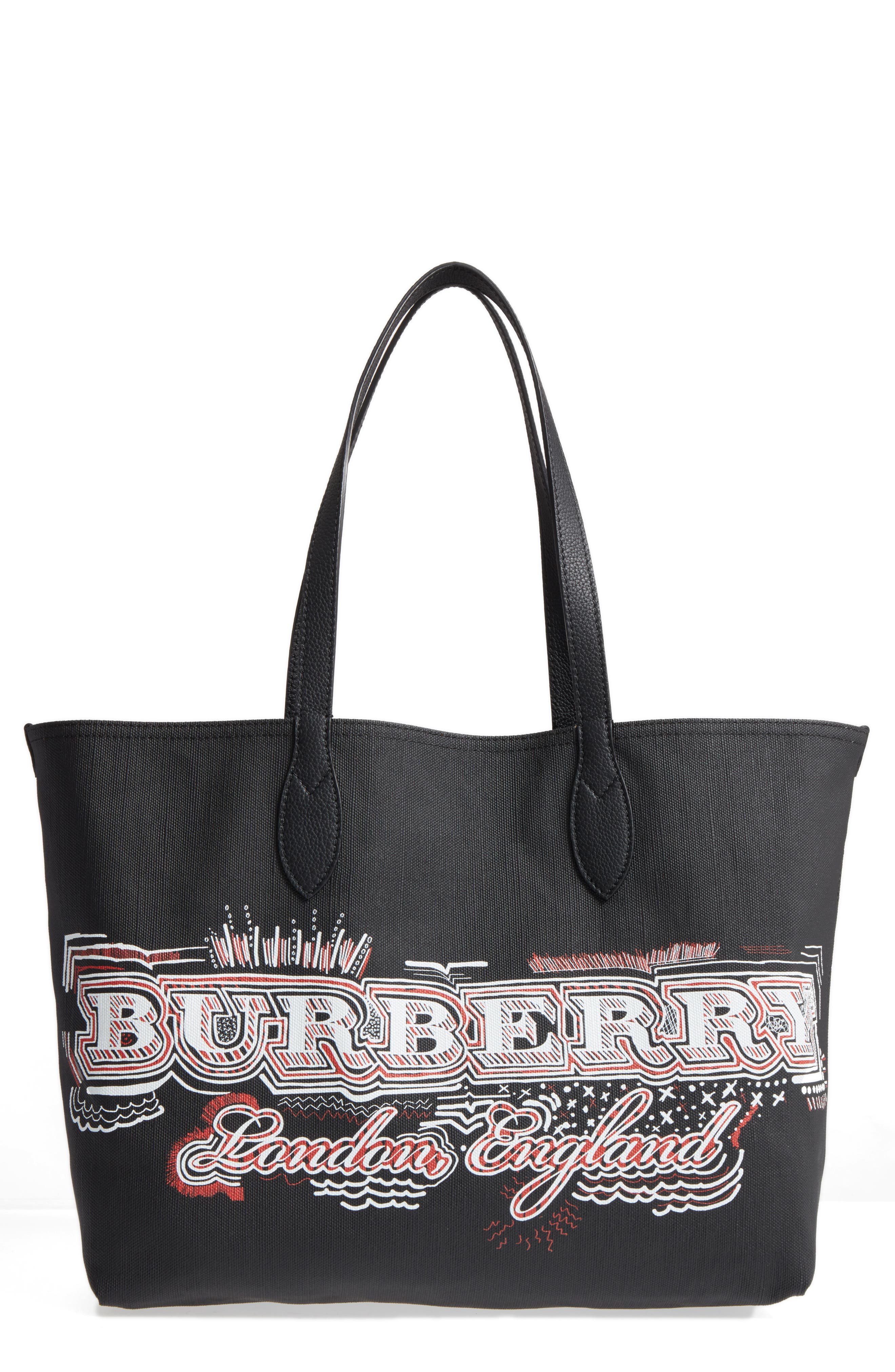 Main Image - Burberry Sketchbook Series Reversible Coated Canvas Tote