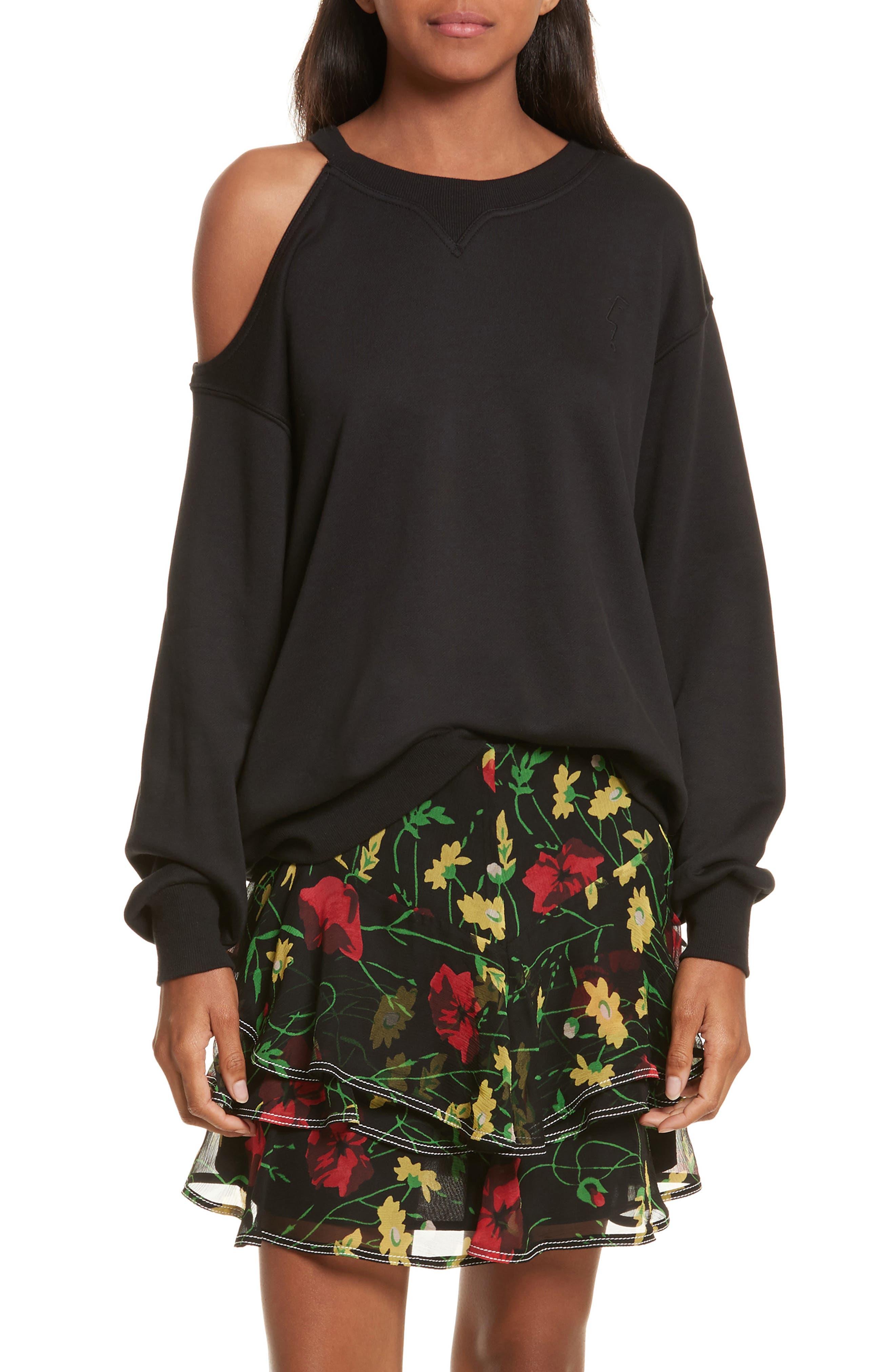Alternate Image 1 Selected - GREY Jason Wu Asymmetrical Cold Shoulder Sweatshirt