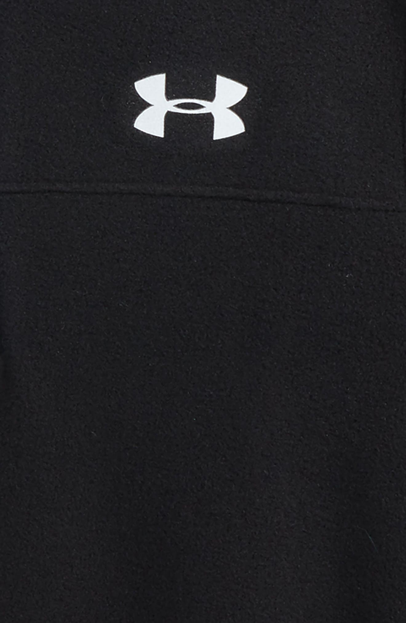 Logo Quarter Zip Pullover,                             Alternate thumbnail 2, color,                             Black