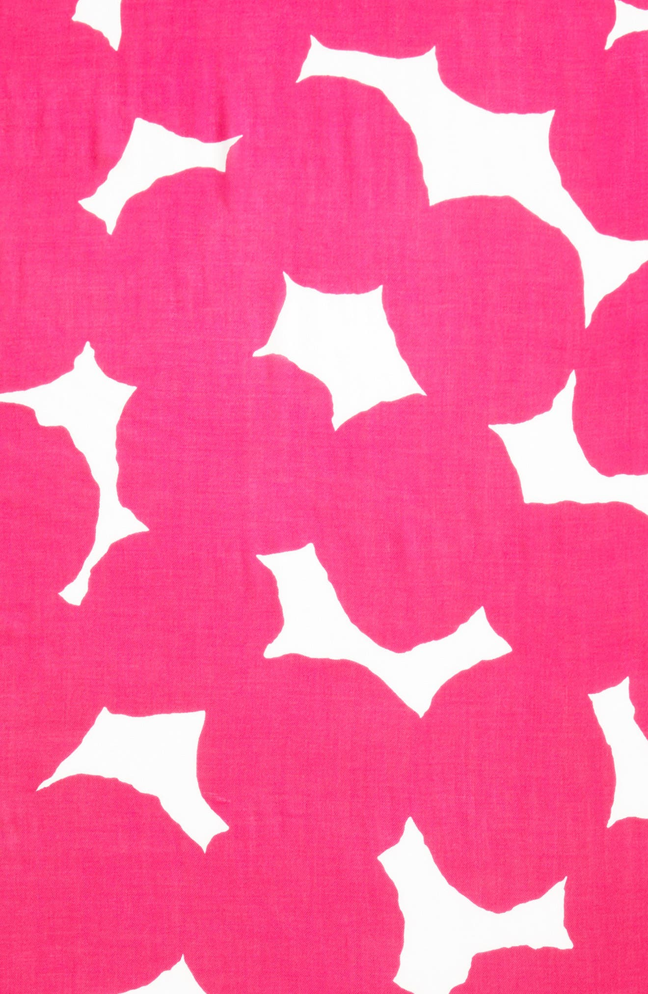 large dot oblong scarf,                             Alternate thumbnail 4, color,                             Cabaret Pink