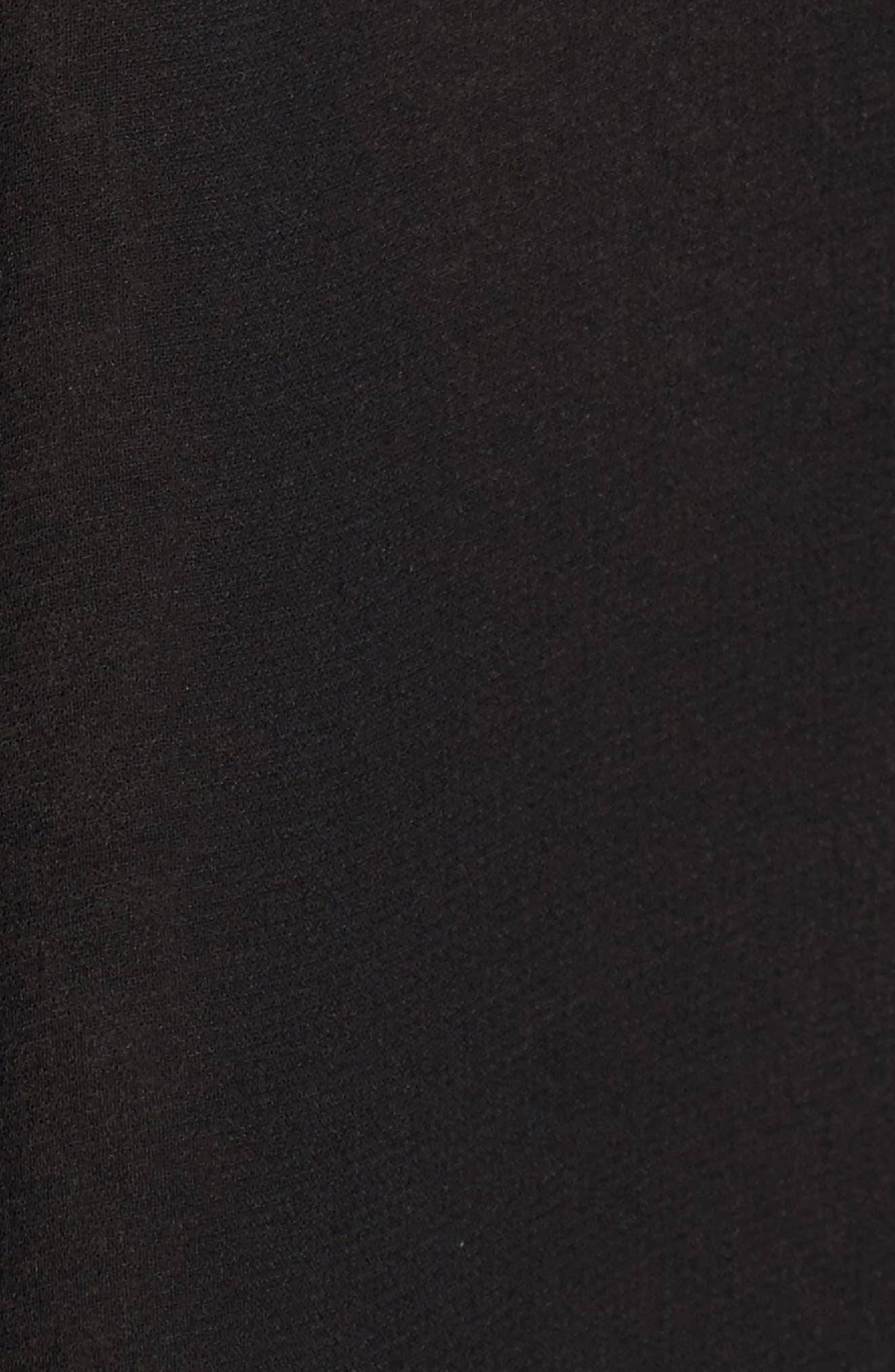 Pippa Cold Shoulder Top,                             Alternate thumbnail 5, color,                             Ink Black