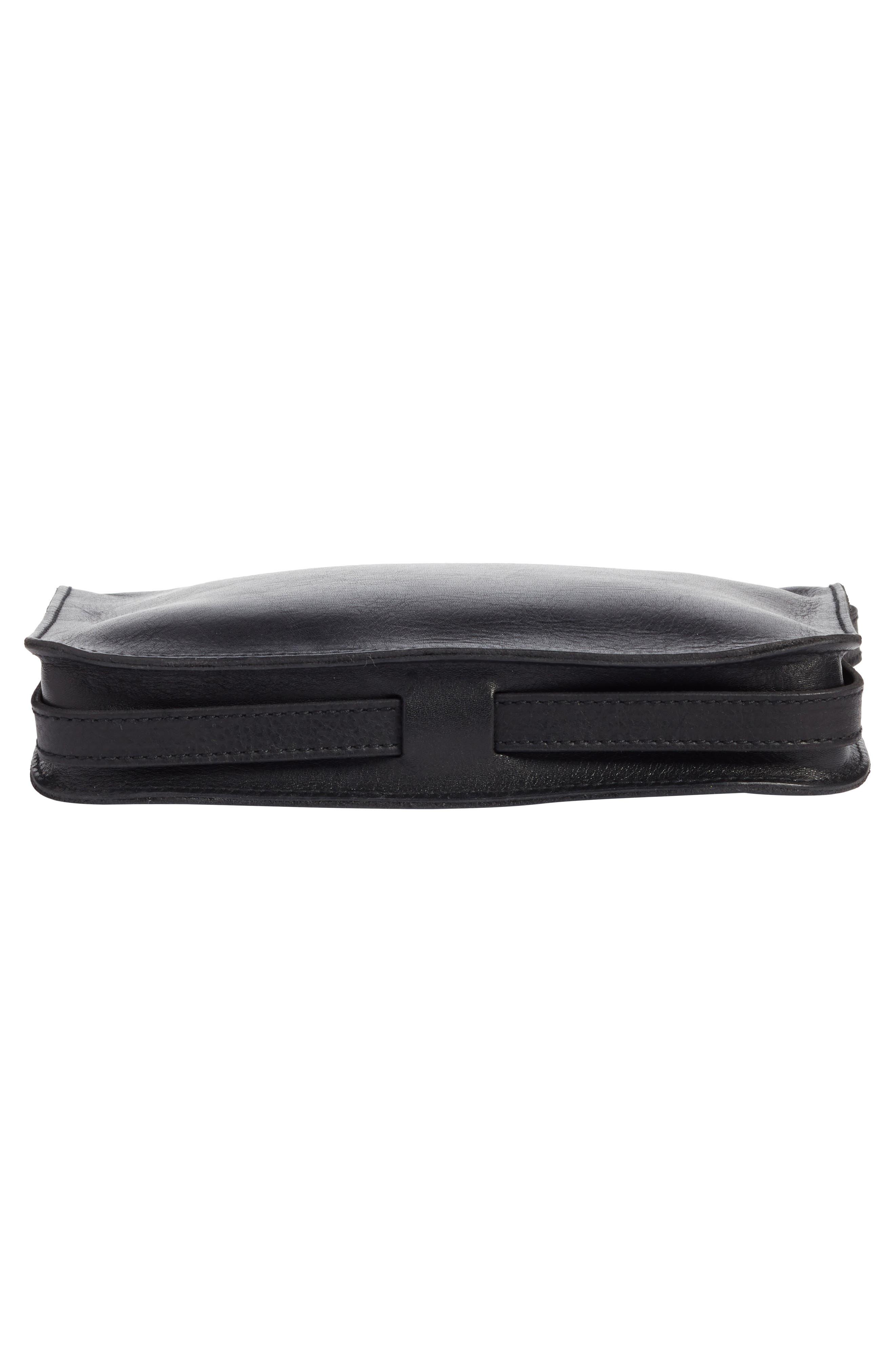 The Simple Leather Crossbody Bag,                             Alternate thumbnail 6, color,                             True Black