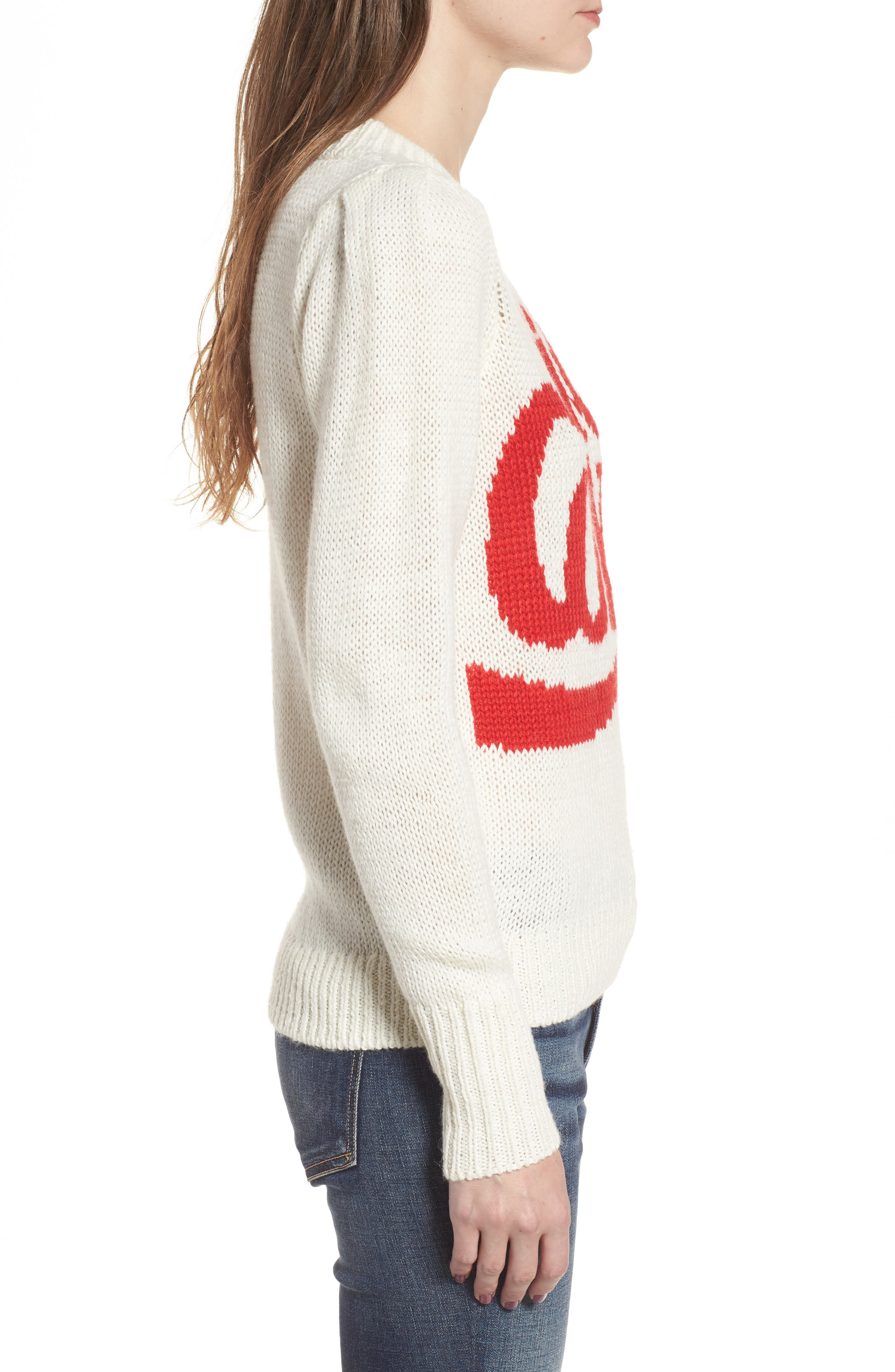 Diet Coke<sup>®</sup> Sweater,                             Alternate thumbnail 3, color,                             Clean White
