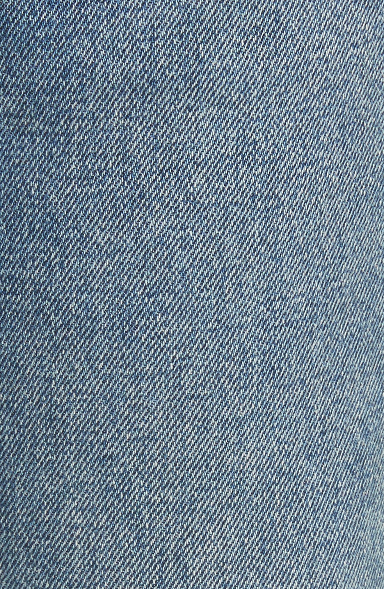 Linda Ripped Rigid High Waist Pop Crop Jeans,                             Alternate thumbnail 5, color,                             Zodiac