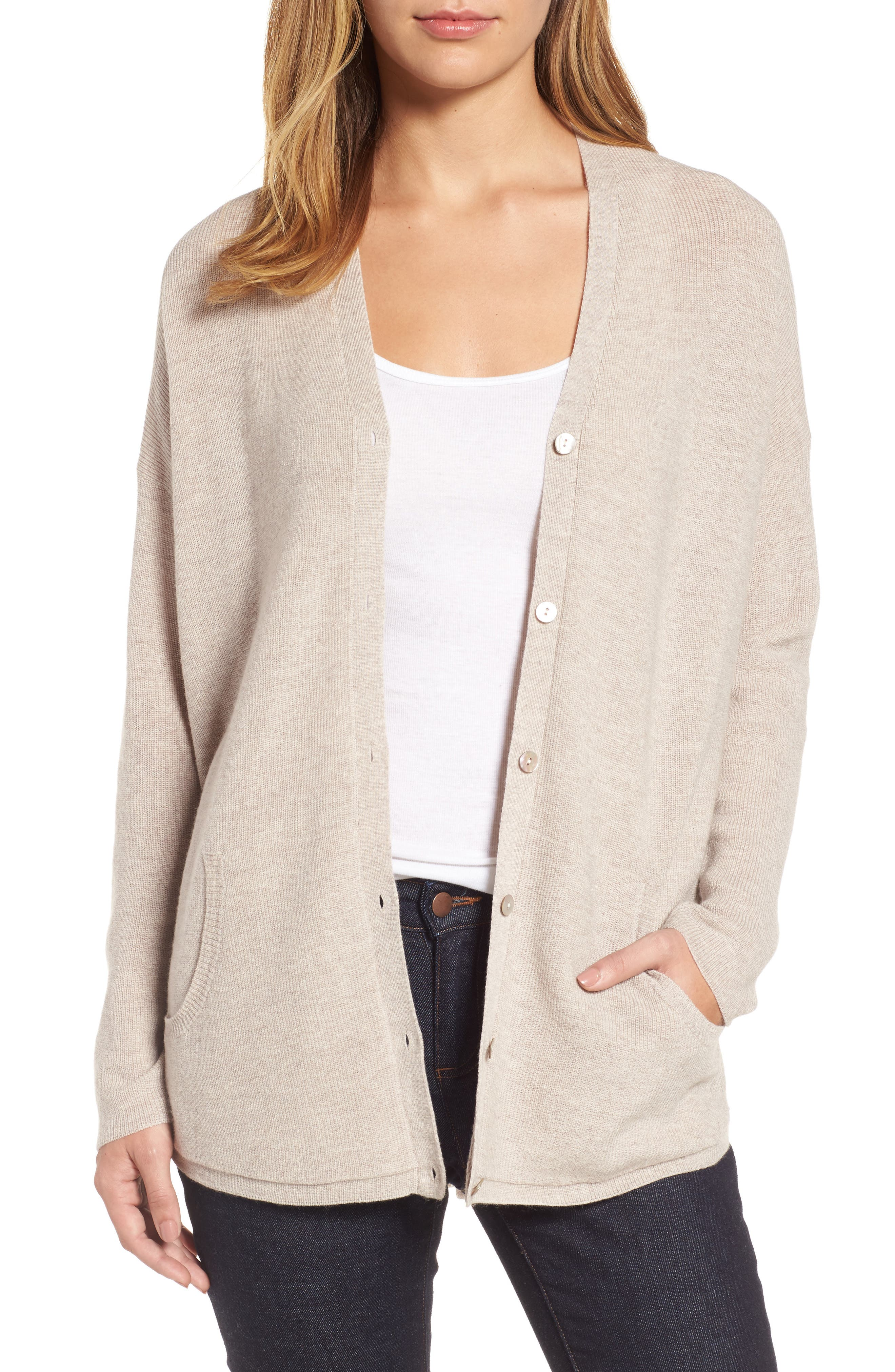 Eileen Fisher V-Neck Merino Wool Cardigan