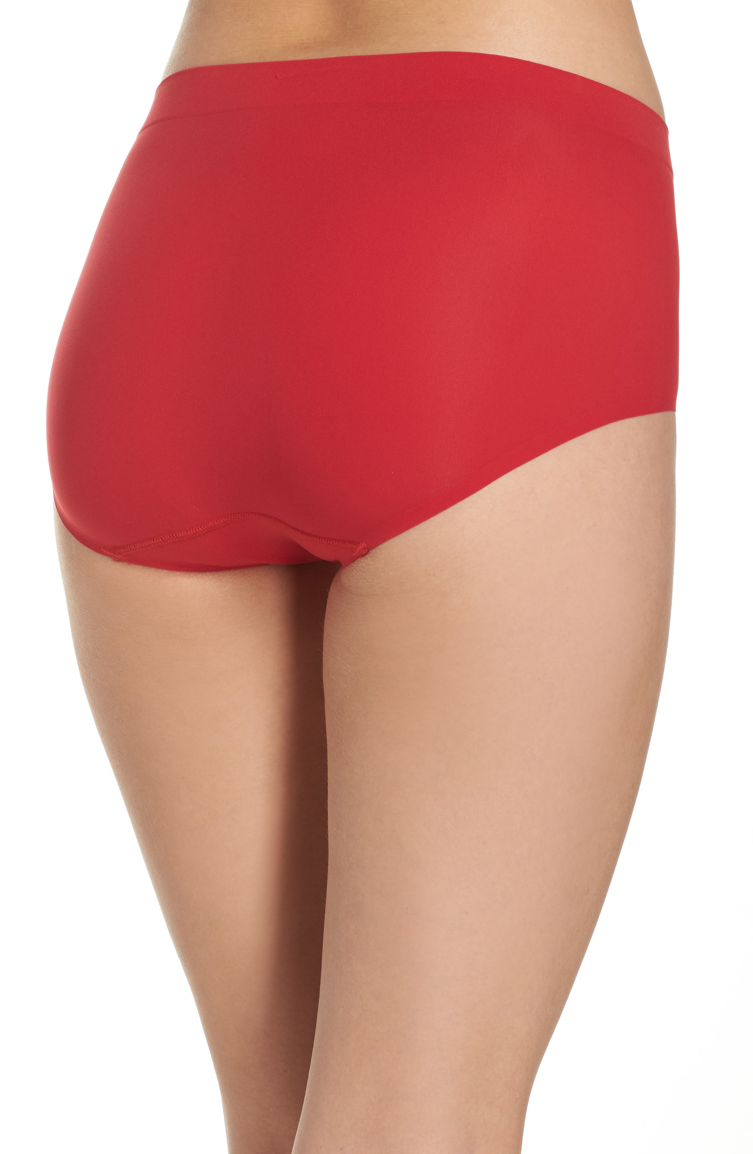 'Skinsense' Seamless Briefs,                             Alternate thumbnail 2, color,                             Tango Red