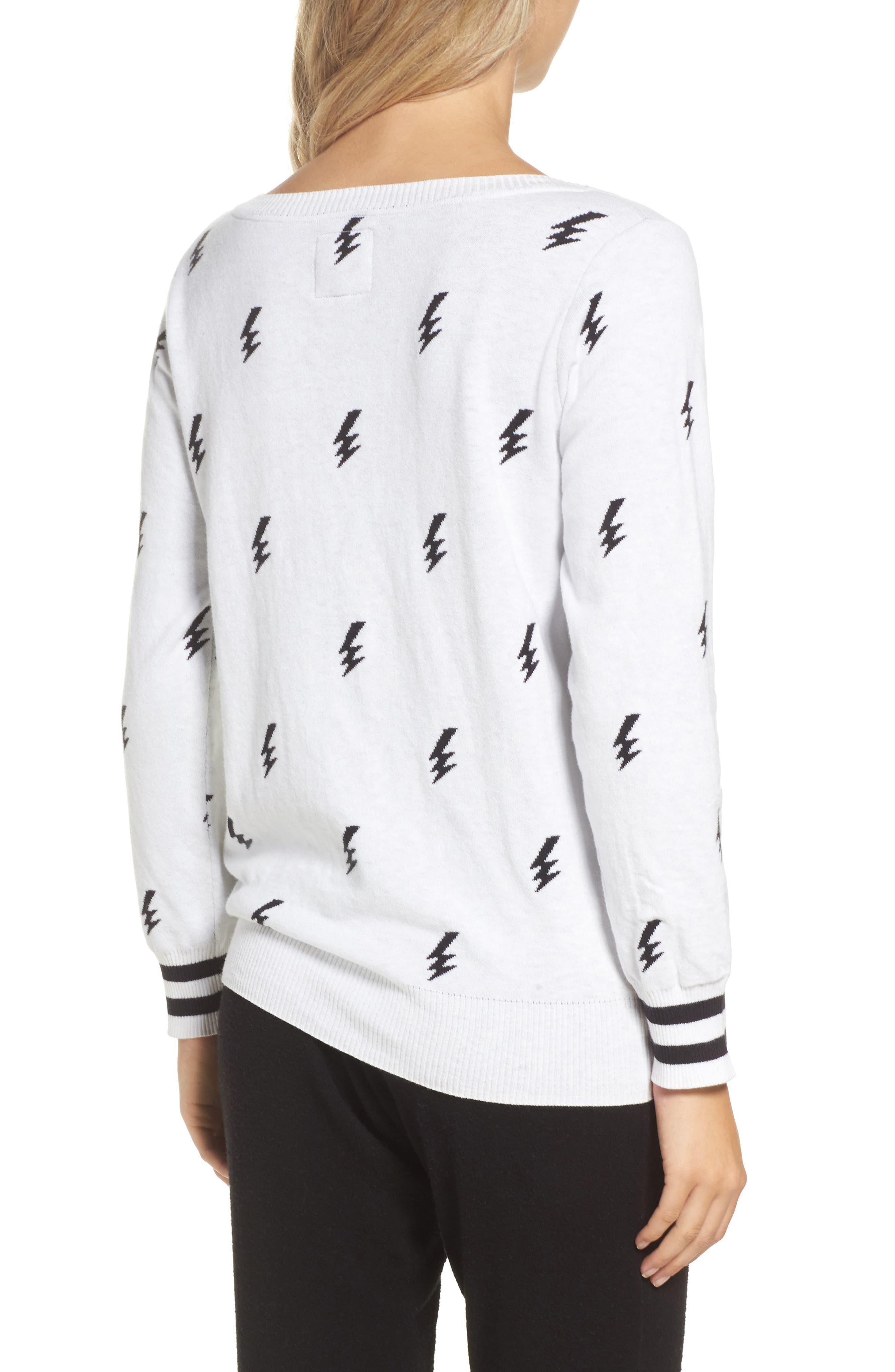 Alternate Image 2  - Chaser Lightning Intarsia Sweater