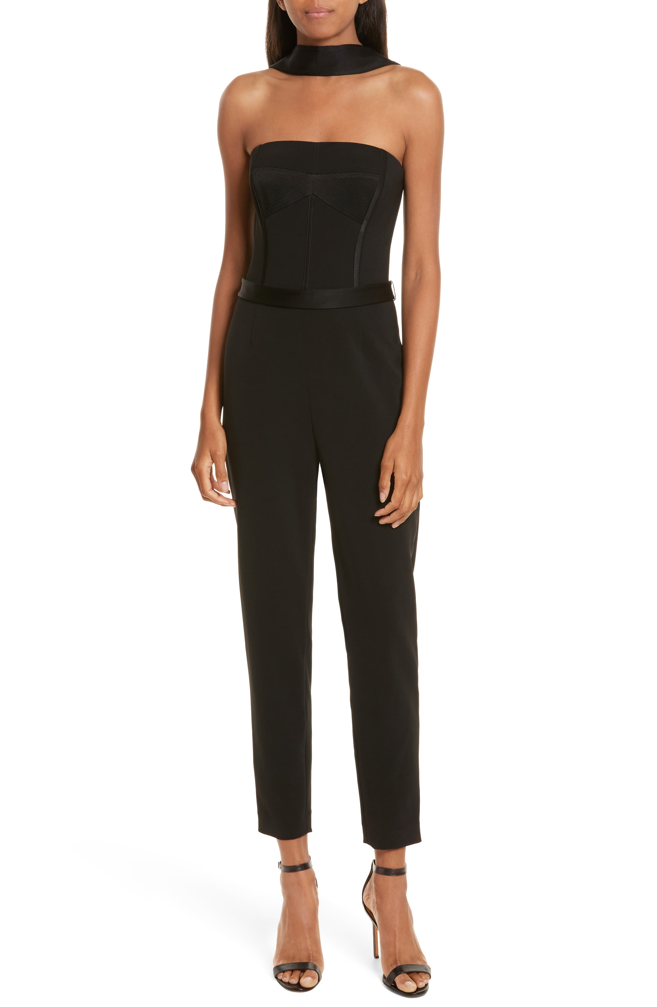 Diane Kruger x GREY Jason Wu Crepe Straight Leg Jumpsuit,                             Main thumbnail 1, color,                             Black