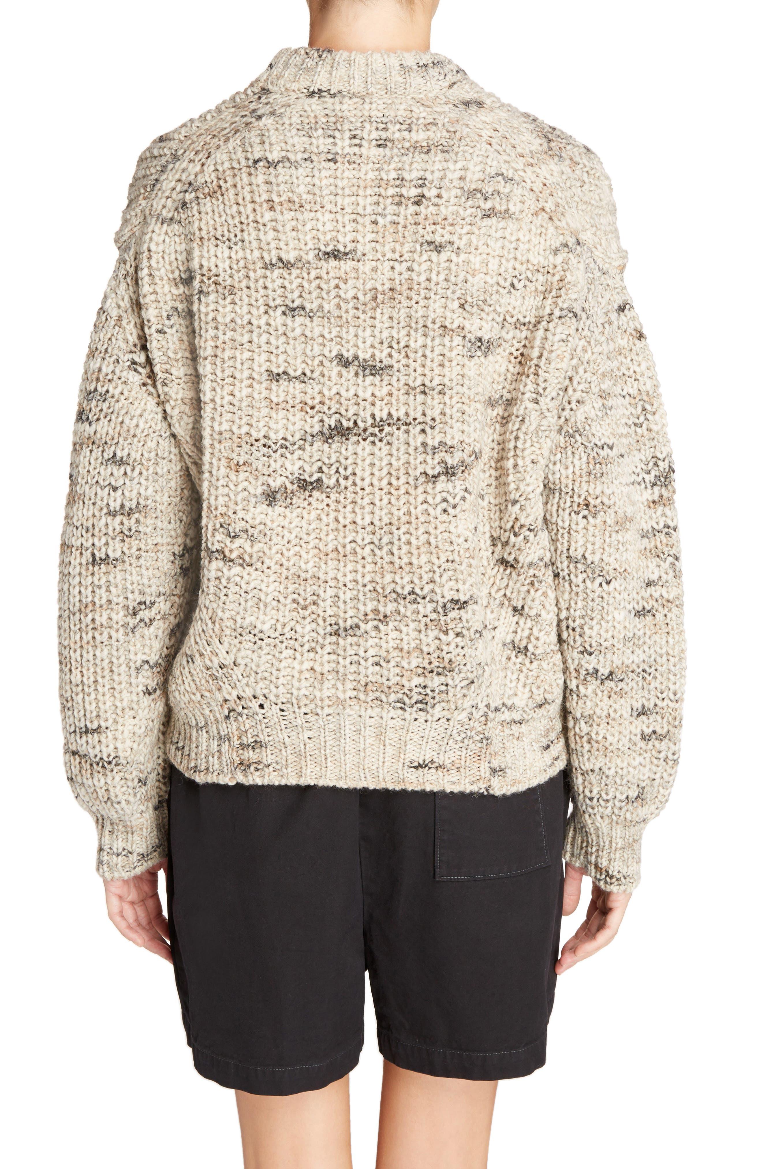 Zora Multi Sweater,                             Alternate thumbnail 2, color,                             White Mix