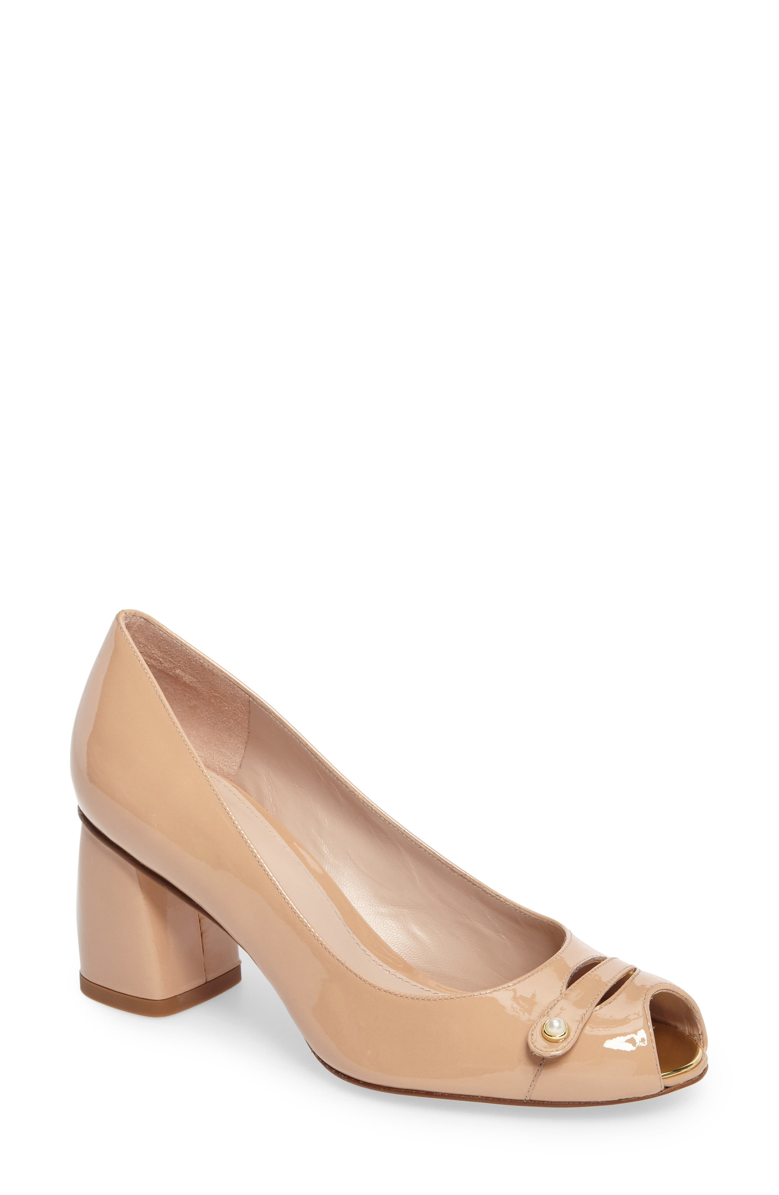 Main Image - Stuart Weitzman Tabeta Open Toe Pump (Women)