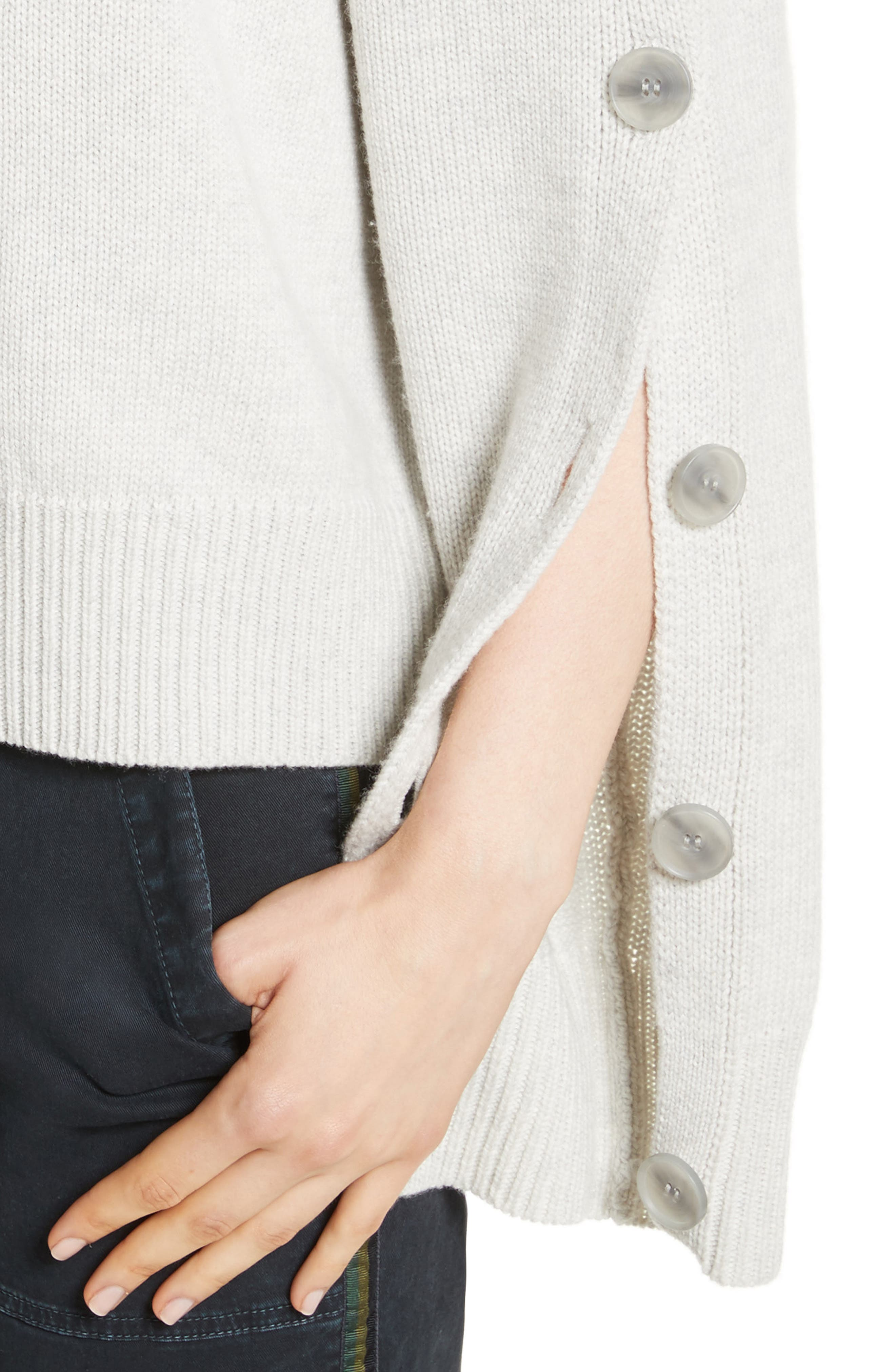 Martina Wool & Cashmere Sweater,                             Alternate thumbnail 4, color,                             Light Grey