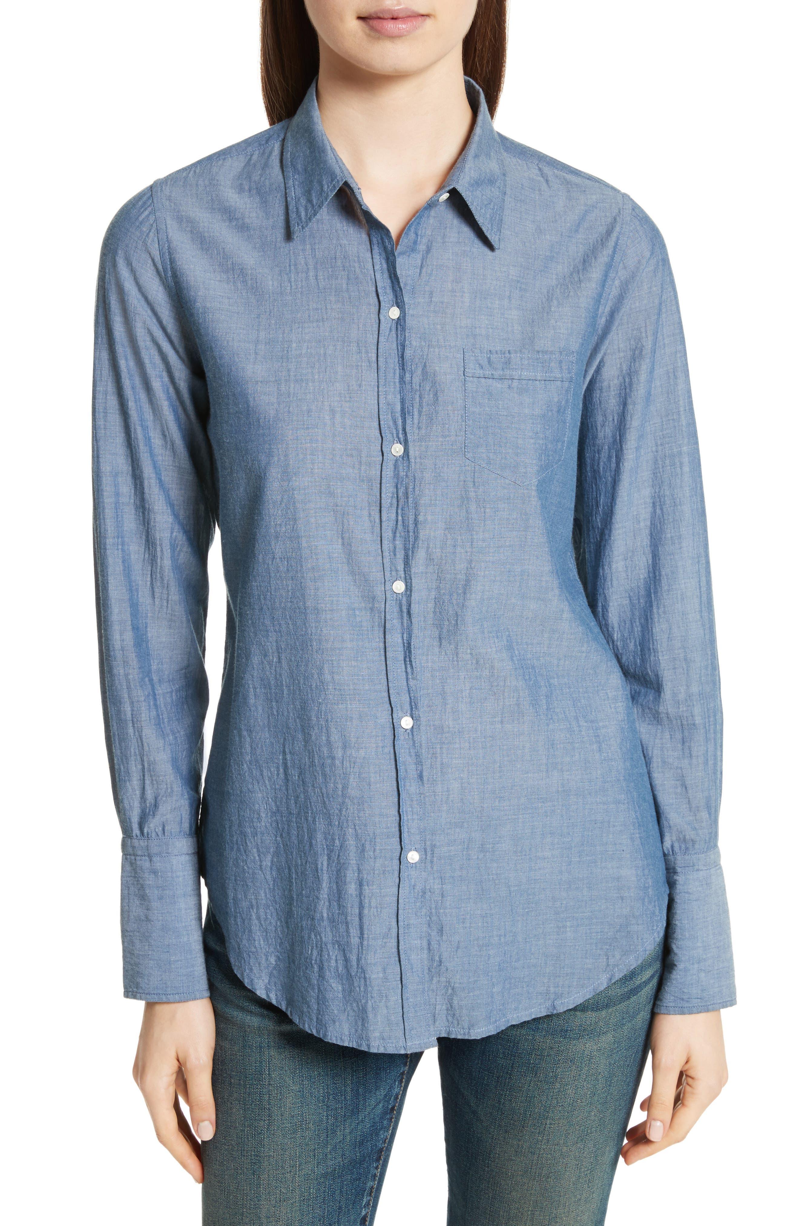 Chambray Shirt,                             Main thumbnail 1, color,                             Indigo Chambray