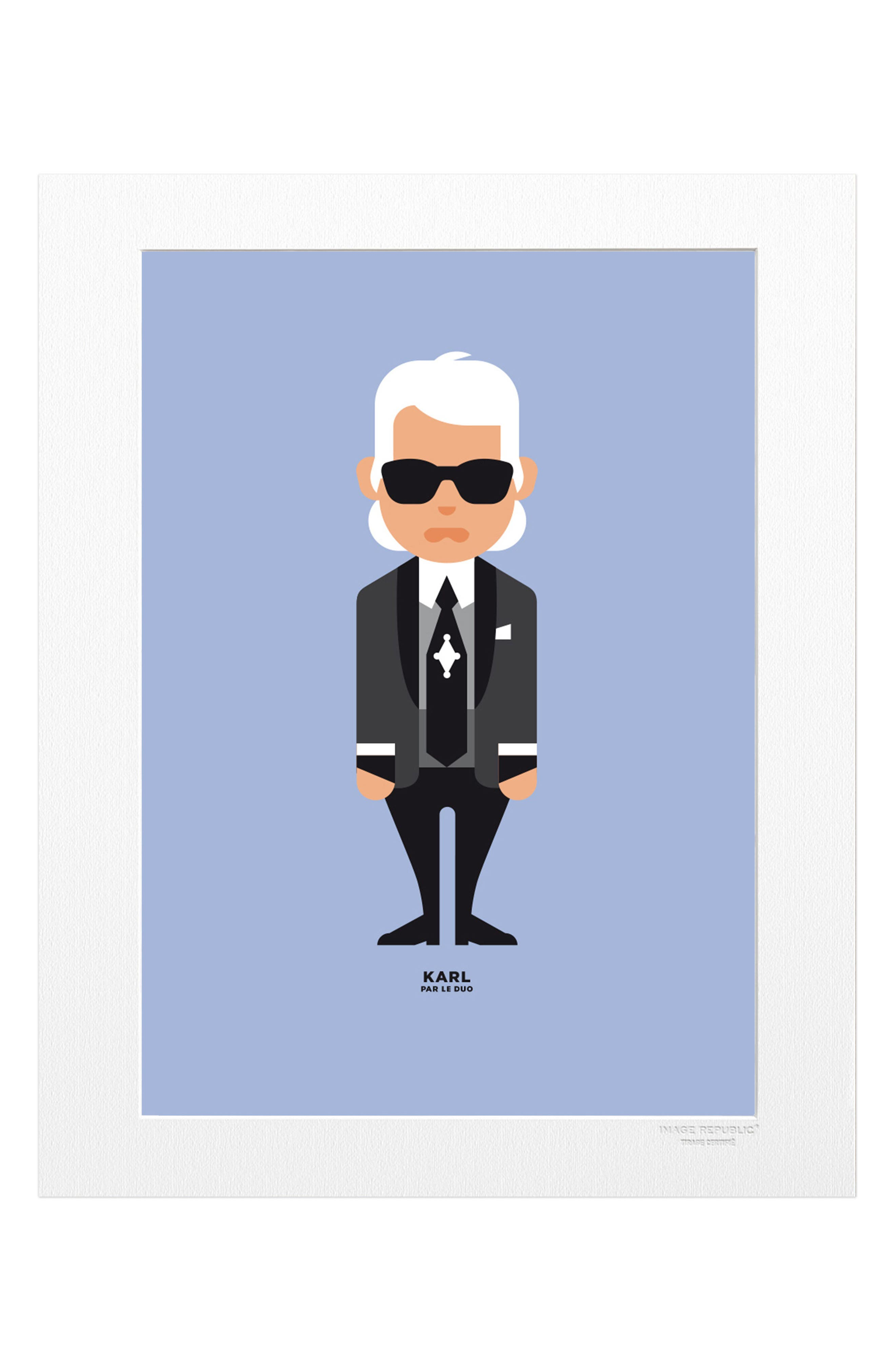 Le Duo Karl Lagerfeld Print,                         Main,                         color, Blue