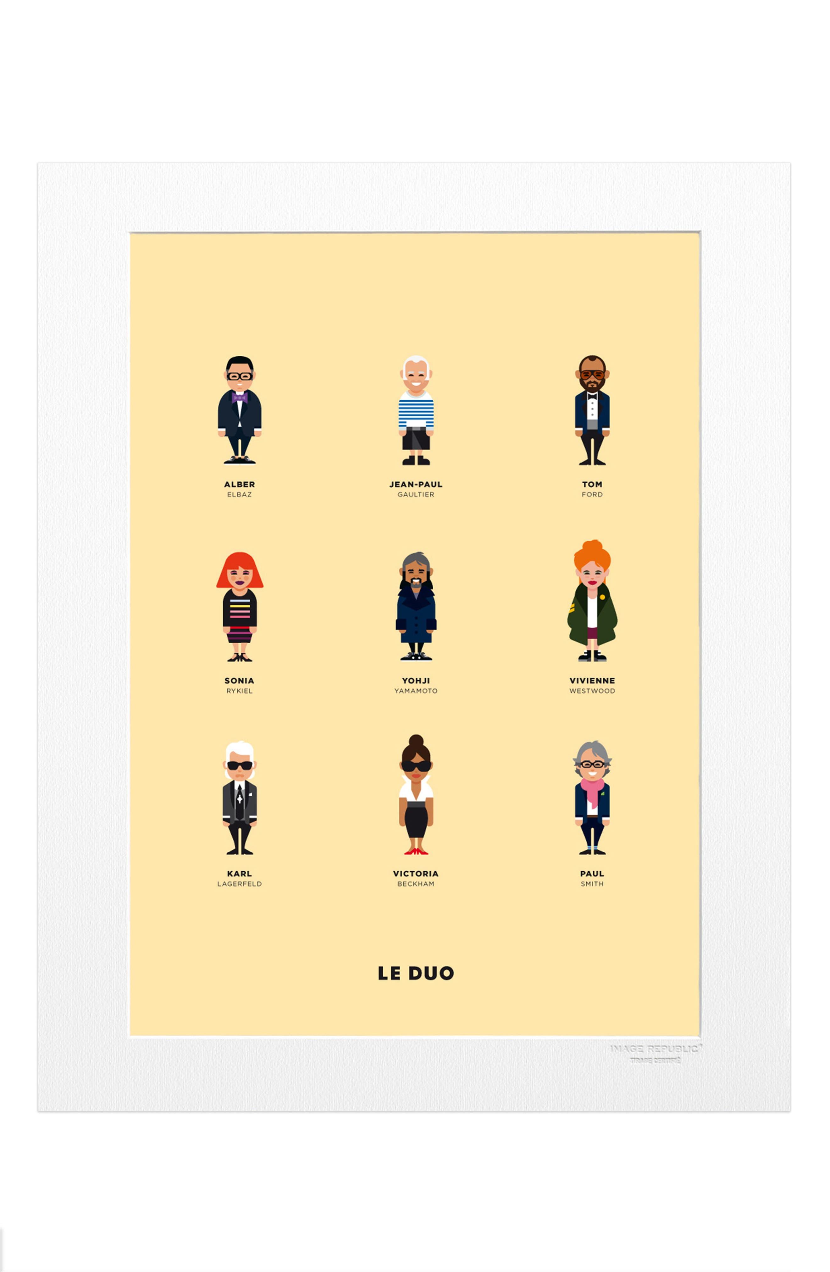 Le Duo Createurs Print,                         Main,                         color, Beige