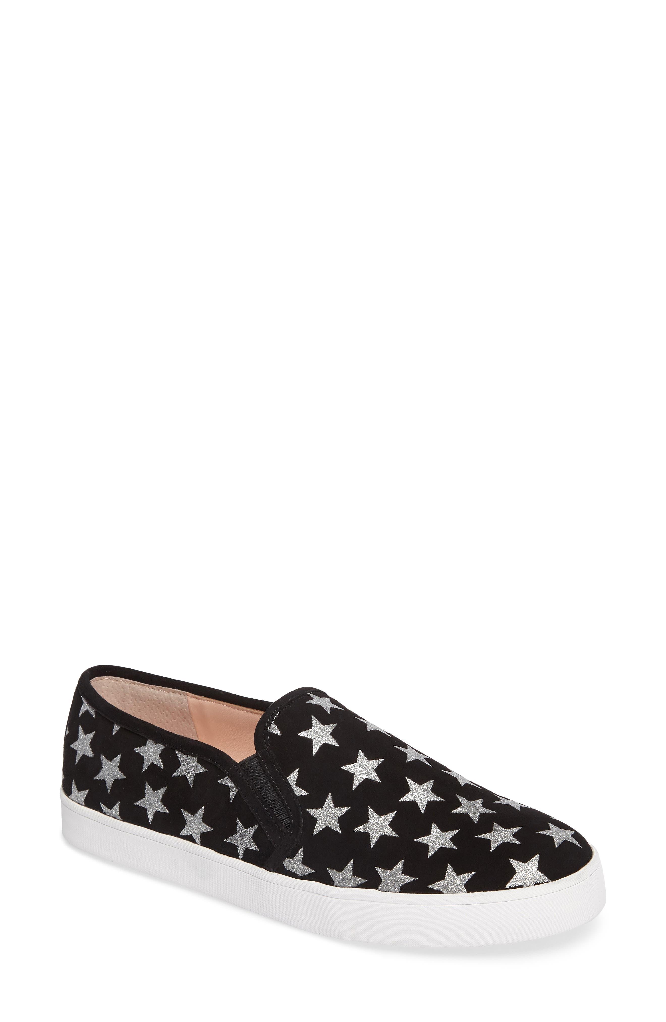 liberty slip-on sneaker,                             Main thumbnail 1, color,                             Black/ Silver