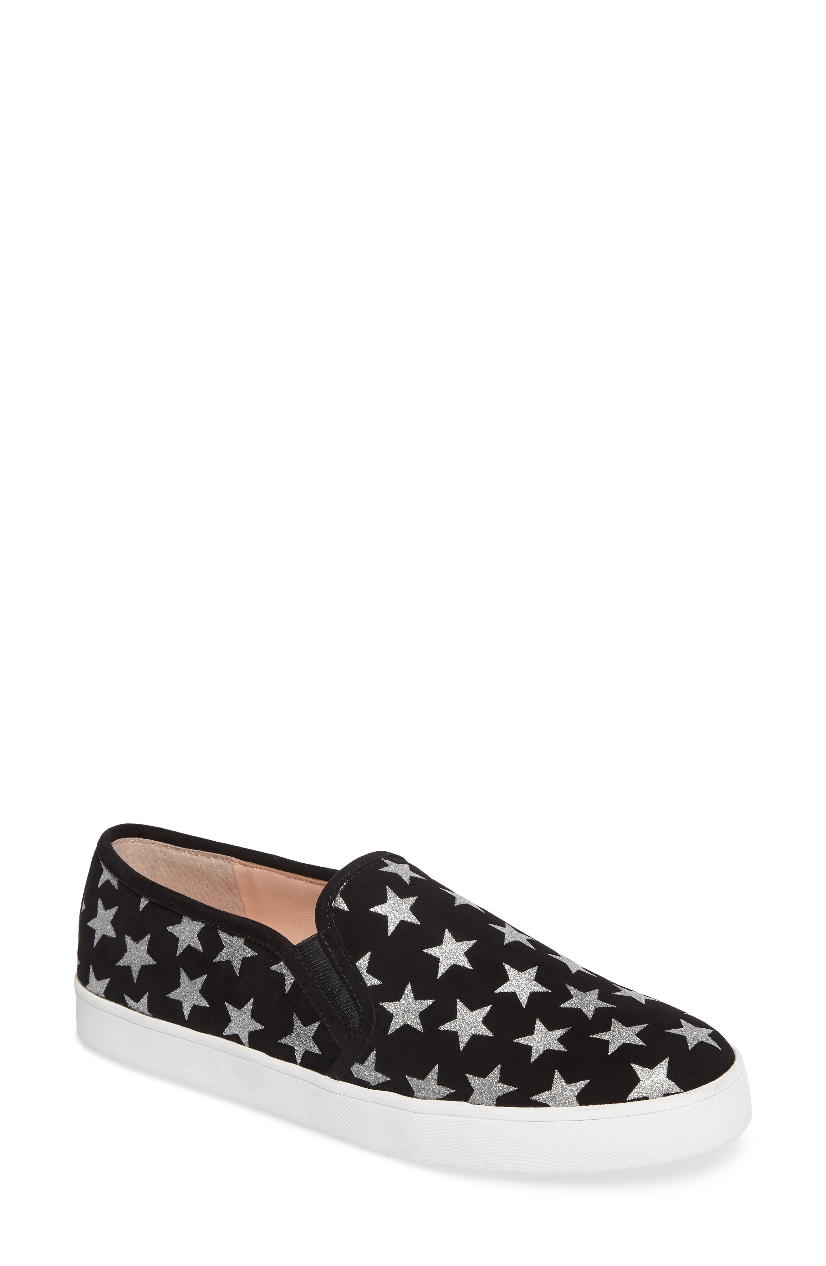 liberty slip-on sneaker,                         Main,                         color, Black/ Silver