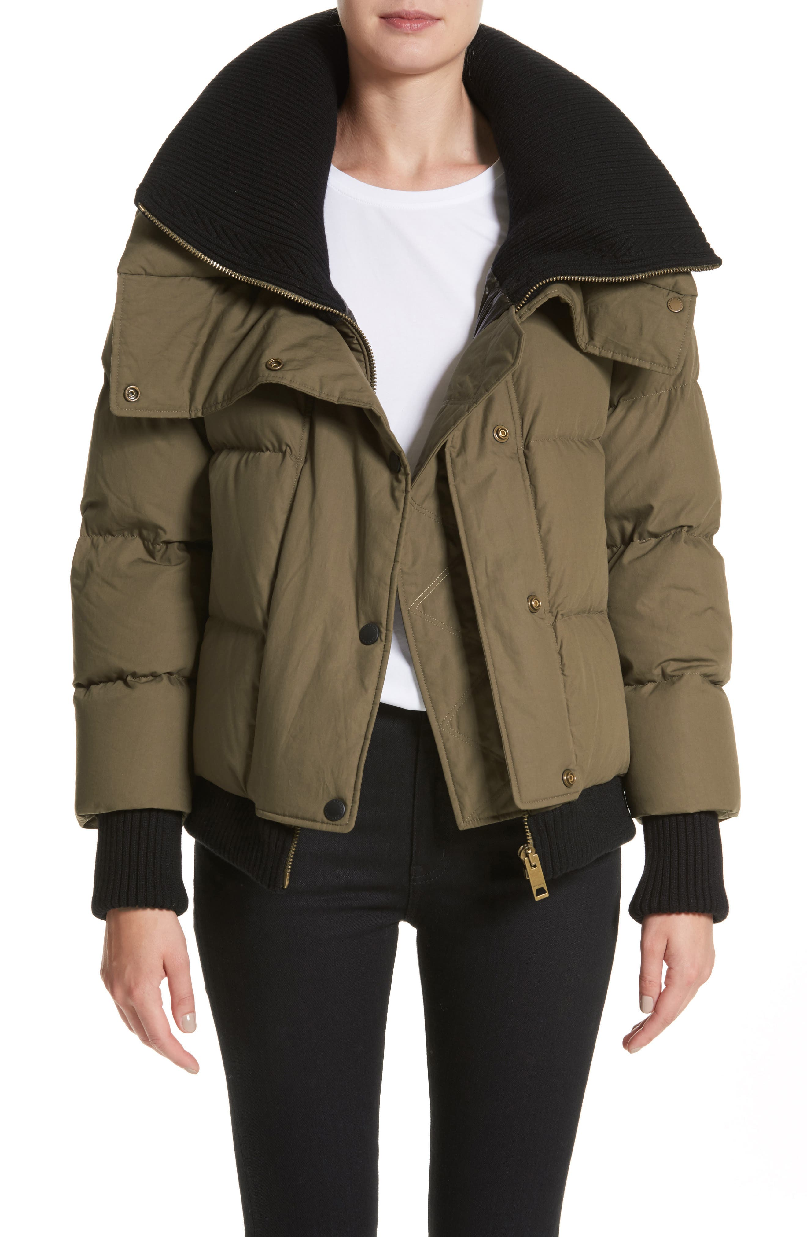 Greenlawkn Puffer Jacket,                         Main,                         color, Olive Green