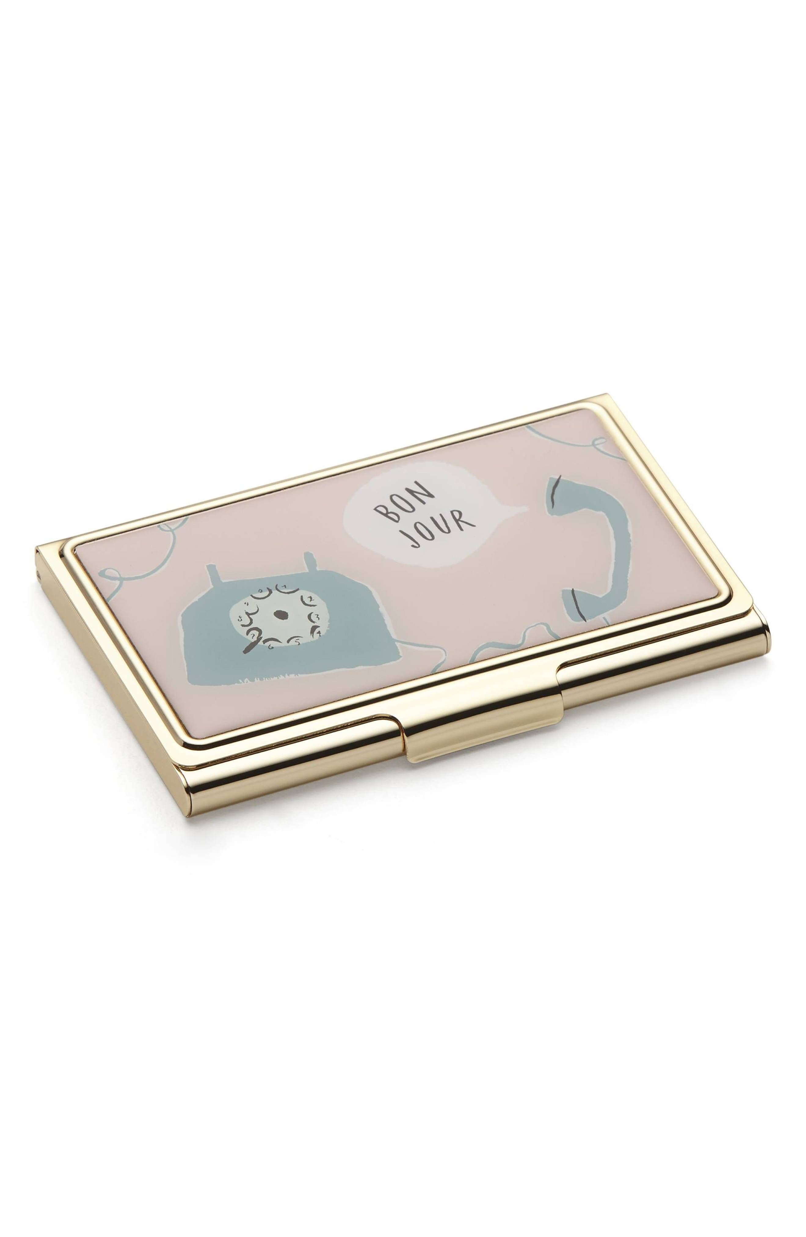 Alternate Image 1 Selected - kate spade new york boudoir chic card case