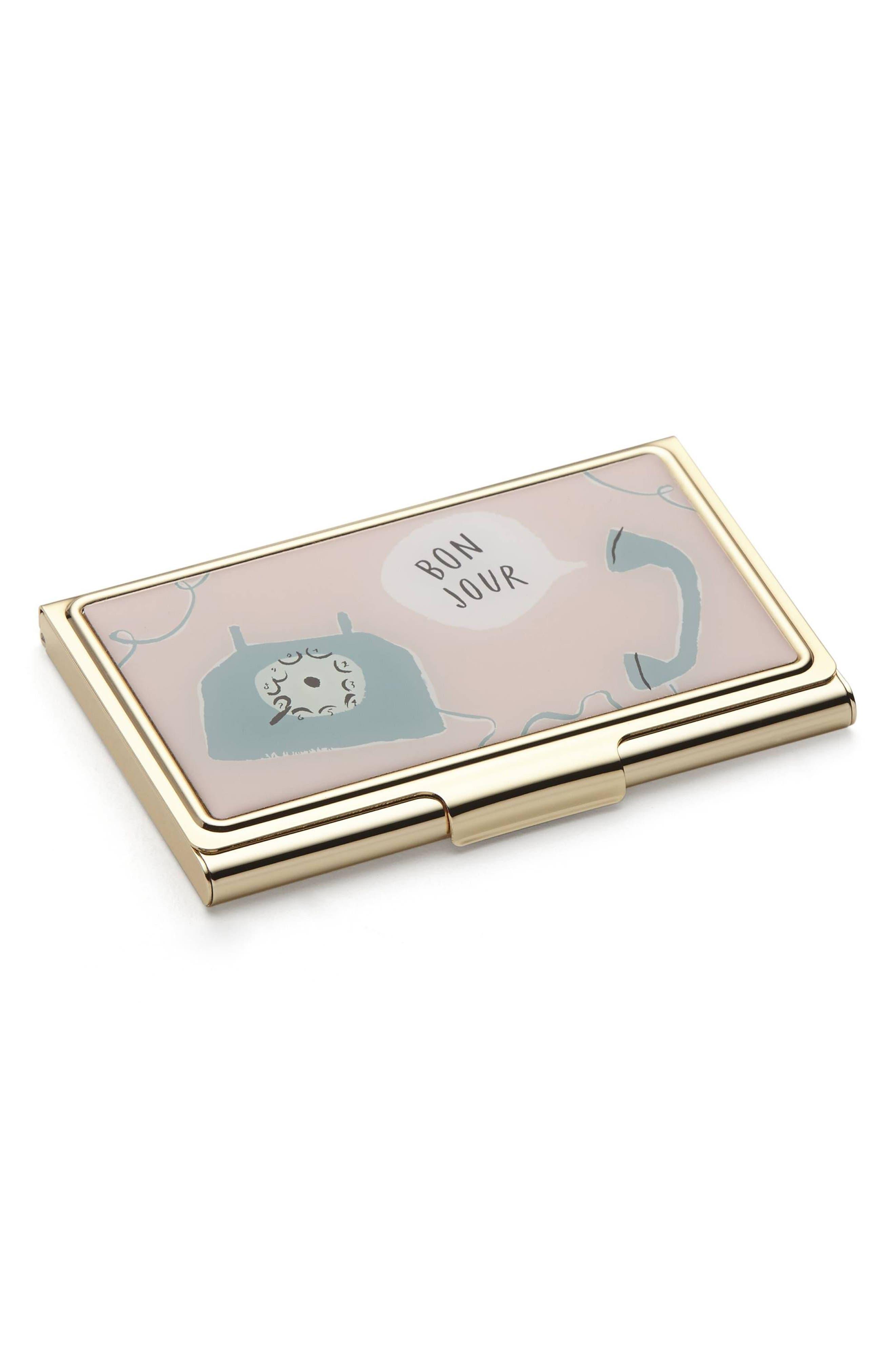 kate spade new york boudoir chic card case