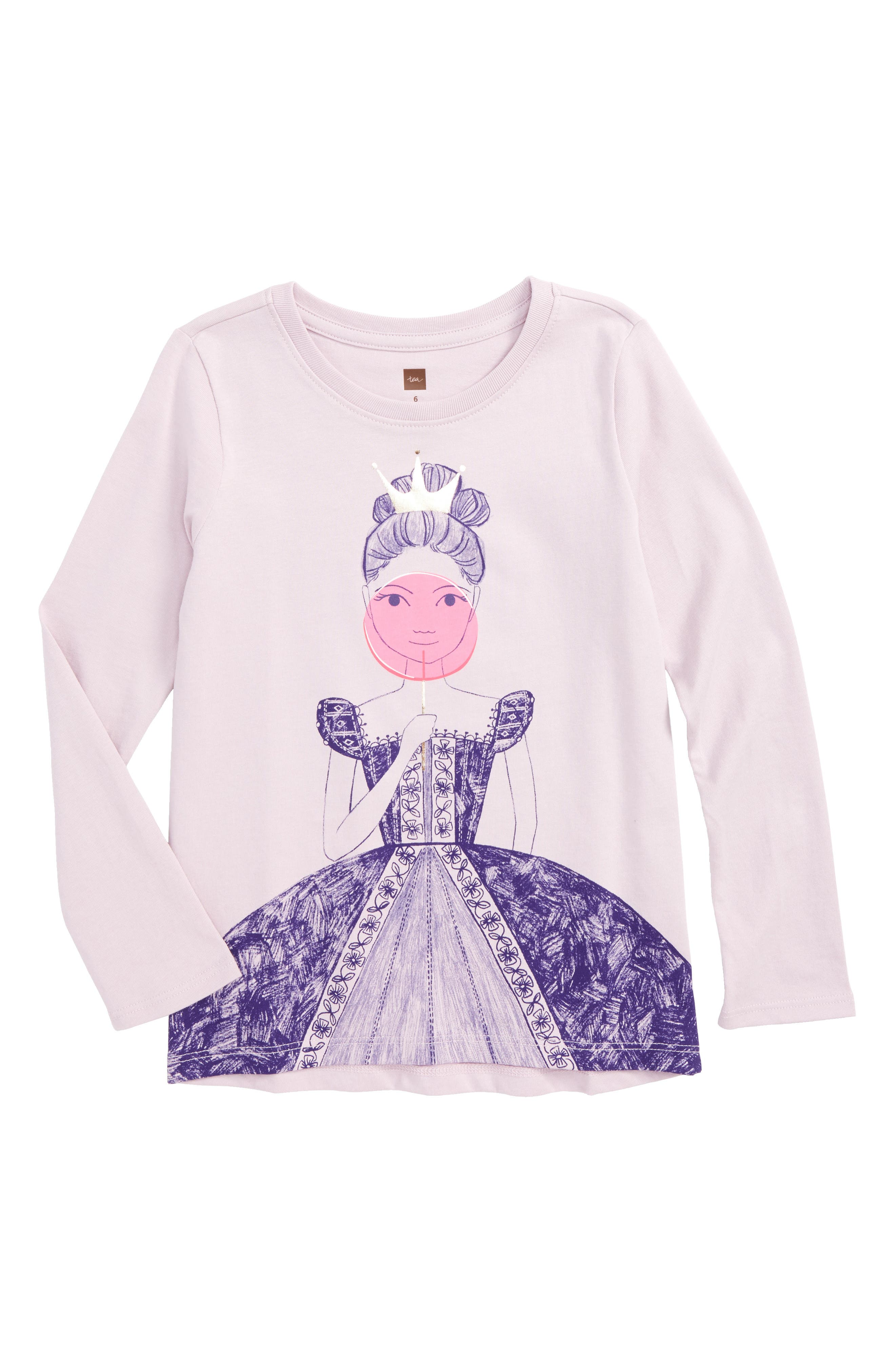 Alternate Image 1 Selected - Tea Collection Queen of Scots Graphic Tee (Toddler Girls, Little Girls & Big Girls)