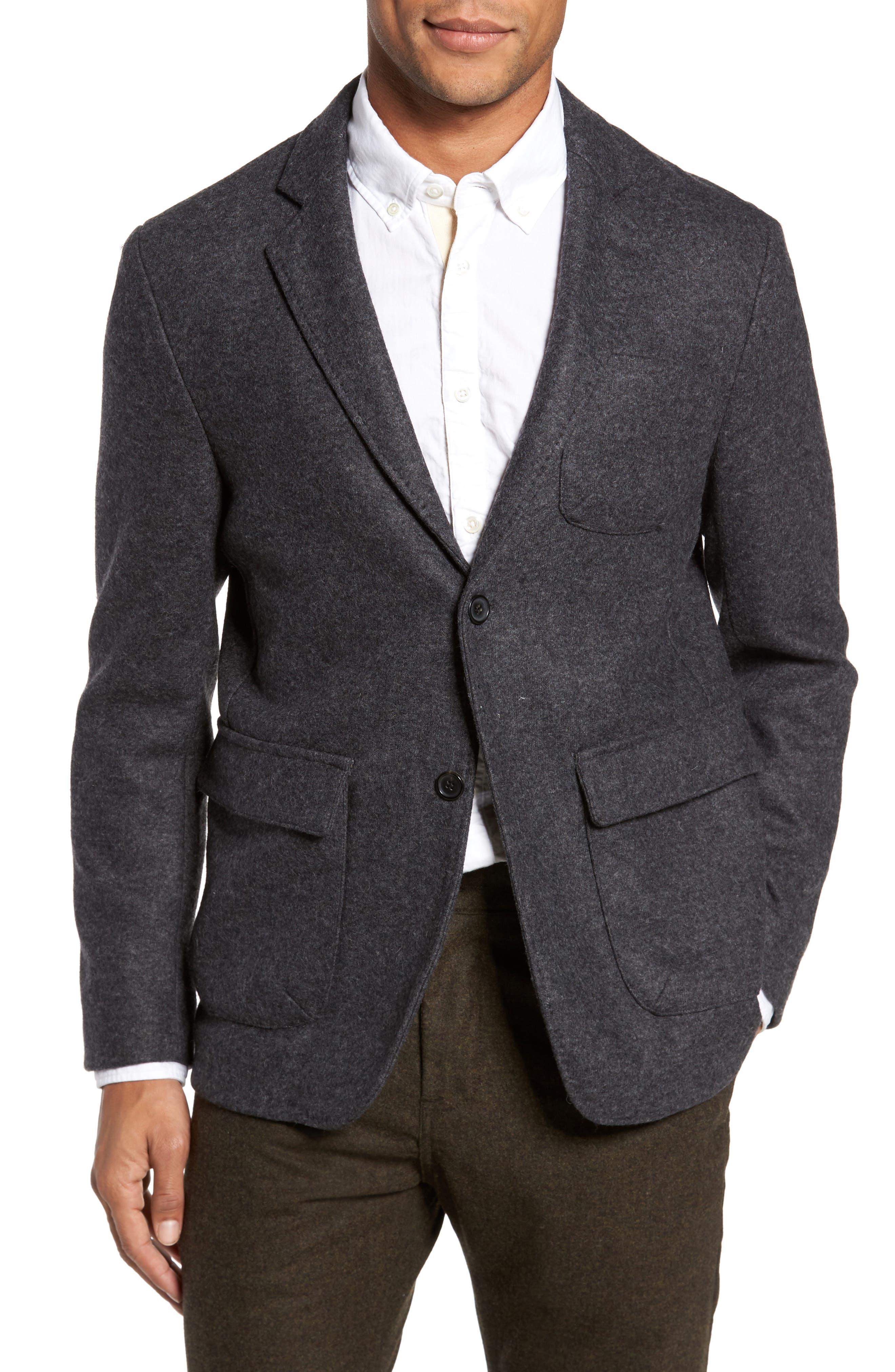 Billy Reid Charlie Classic Fit Wool Blend Knit Sport Coat