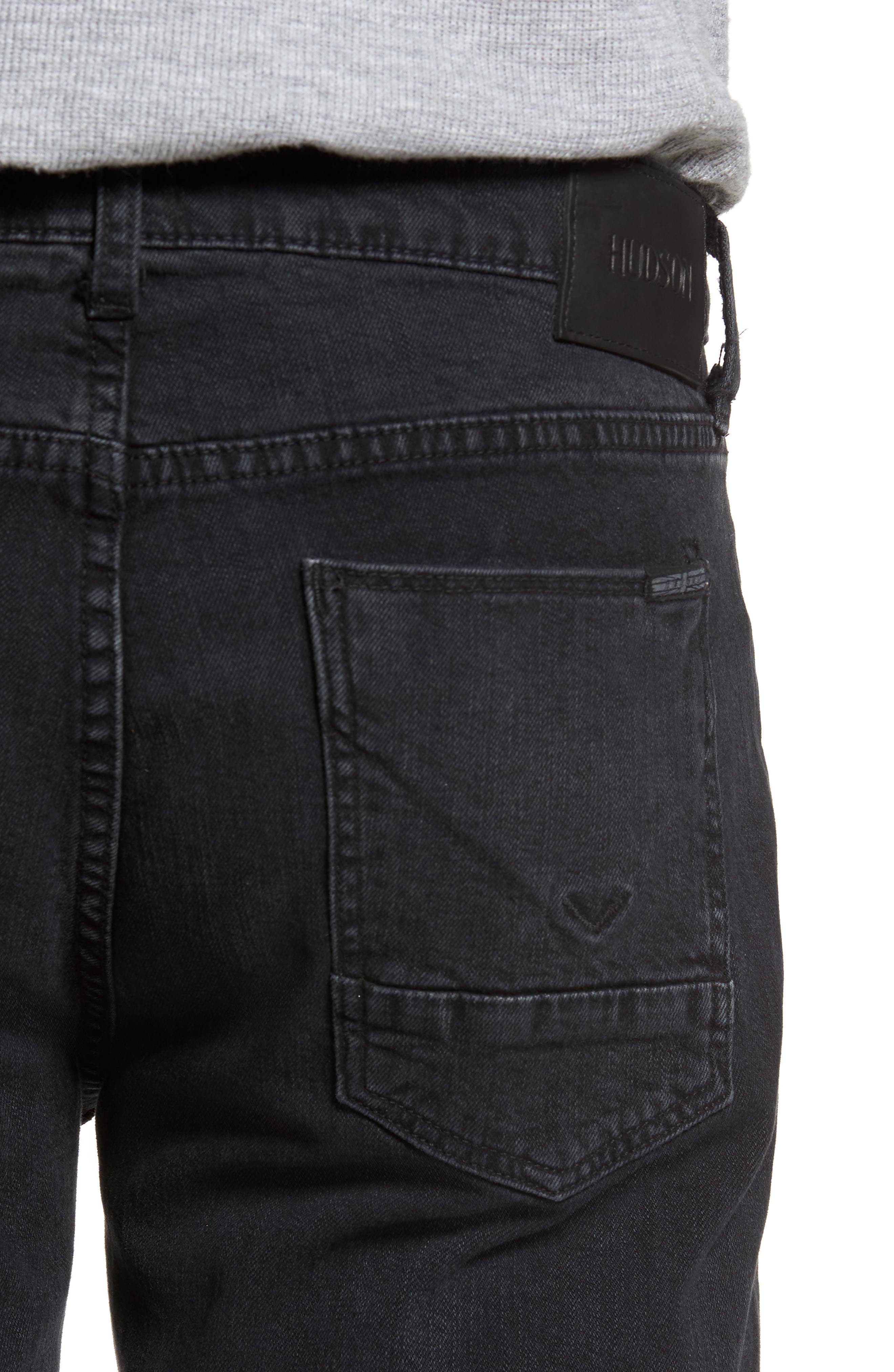 Alternate Image 4  - Hudson Jeans Byron Slim Straight Fit Jeans (Unmarked)