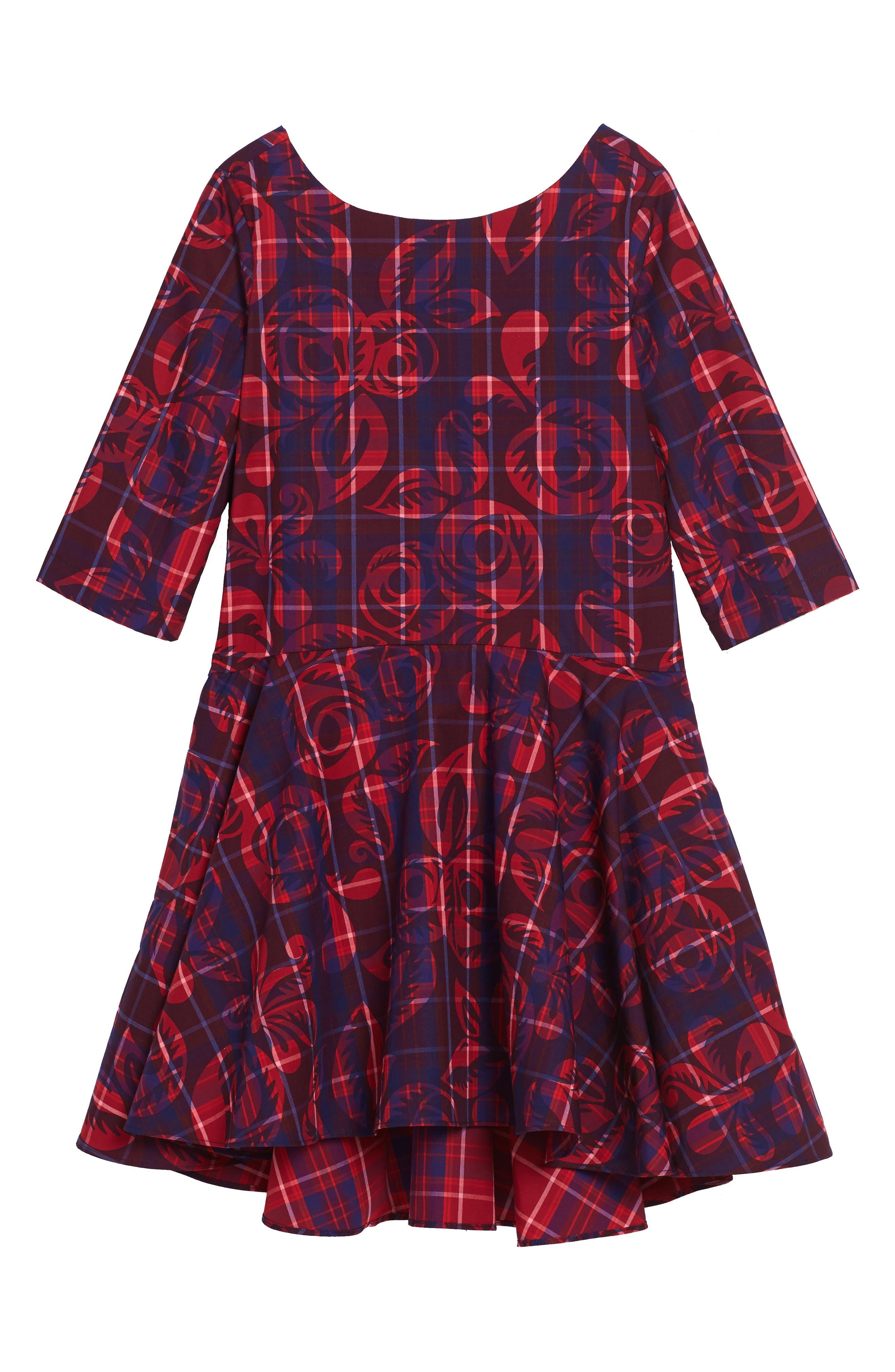 Main Image - Tea Collection Culzean Plaid Dress (Toddler Girls, Little Girls & Big Girls)