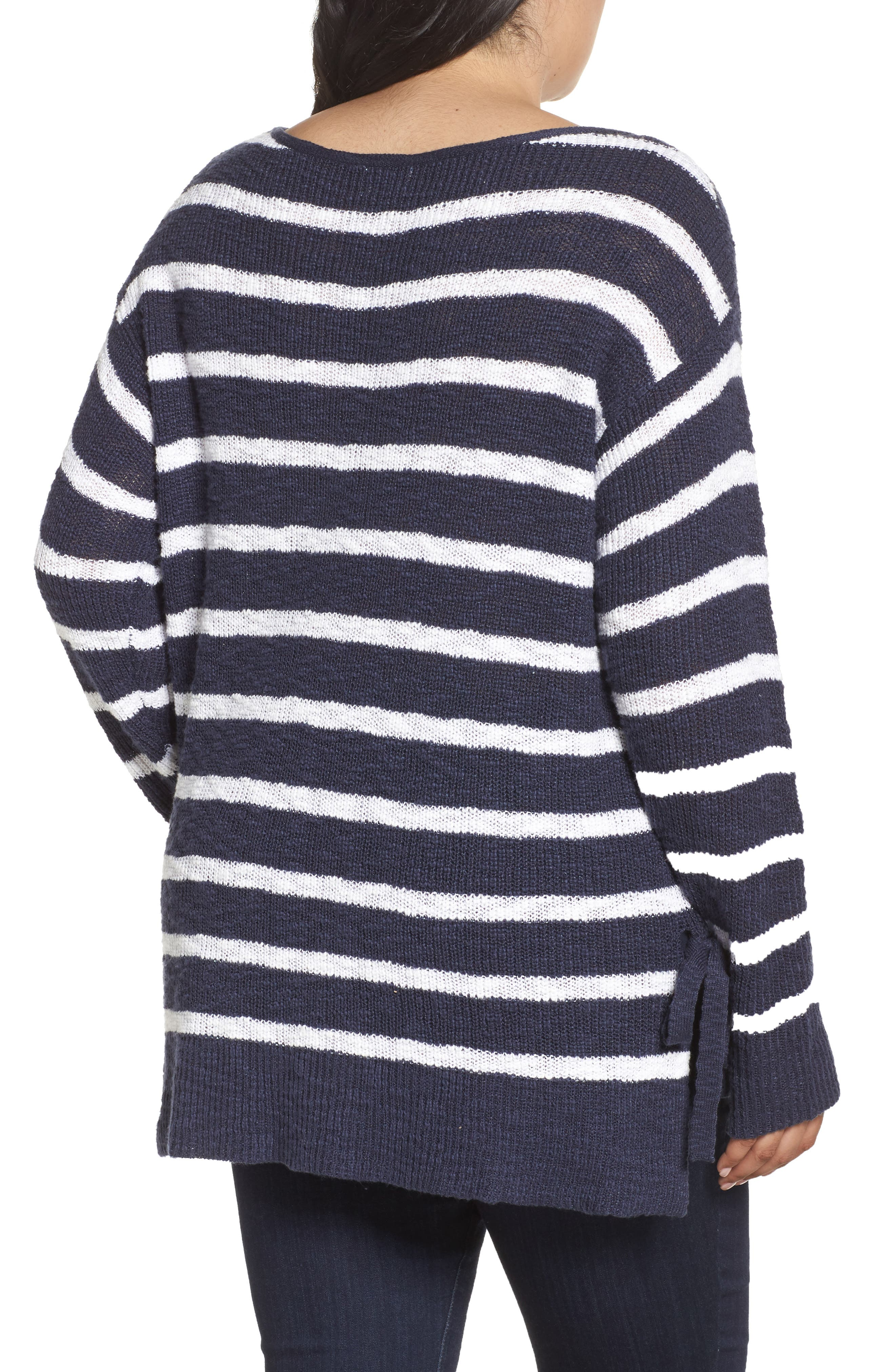 Alternate Image 2  - Caslon® Tunic Sweater with Side Ties (Plus Size)