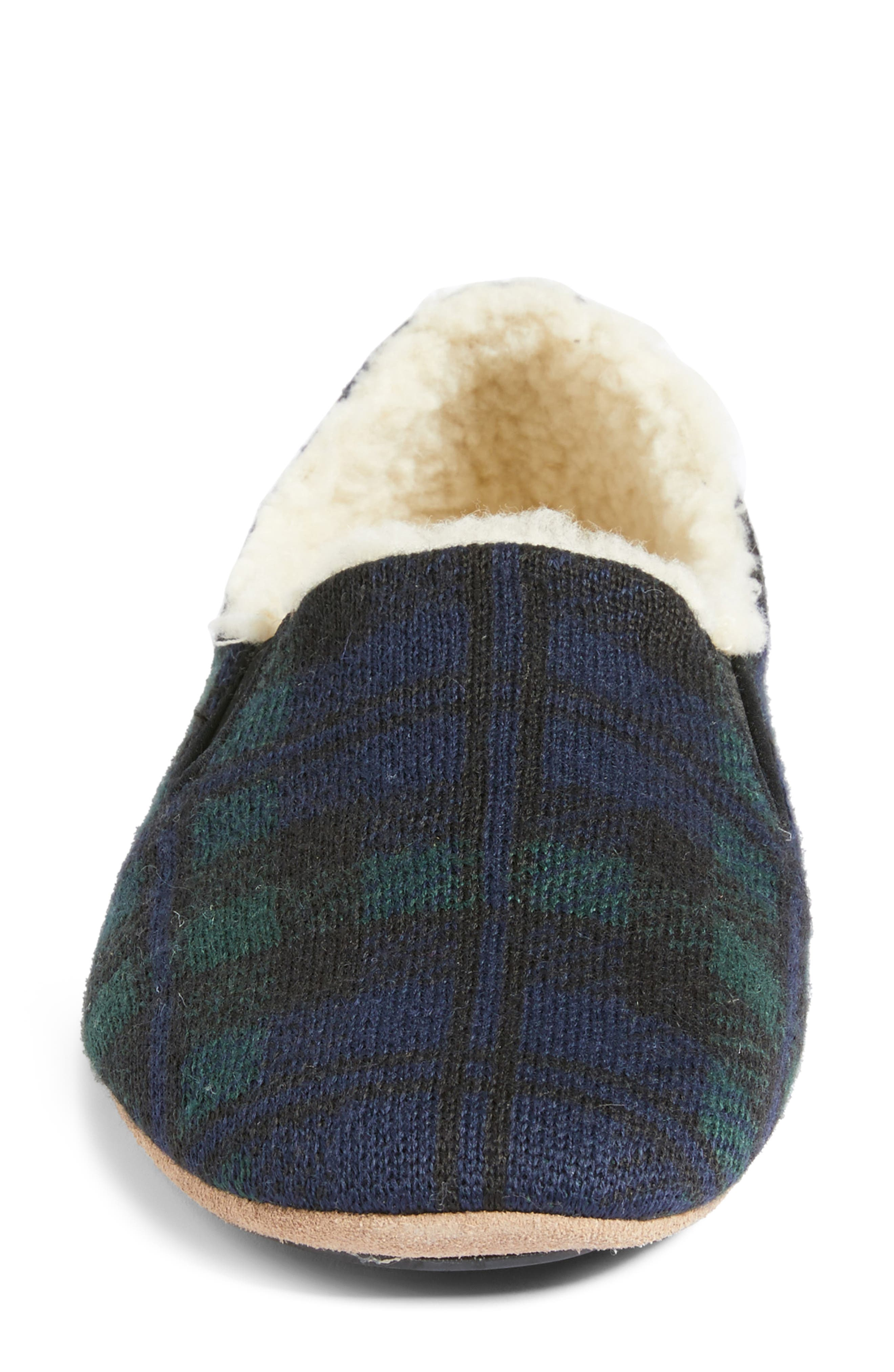 Black Watch Plaid Nomad Slippers,                             Alternate thumbnail 5, color,                             Navy