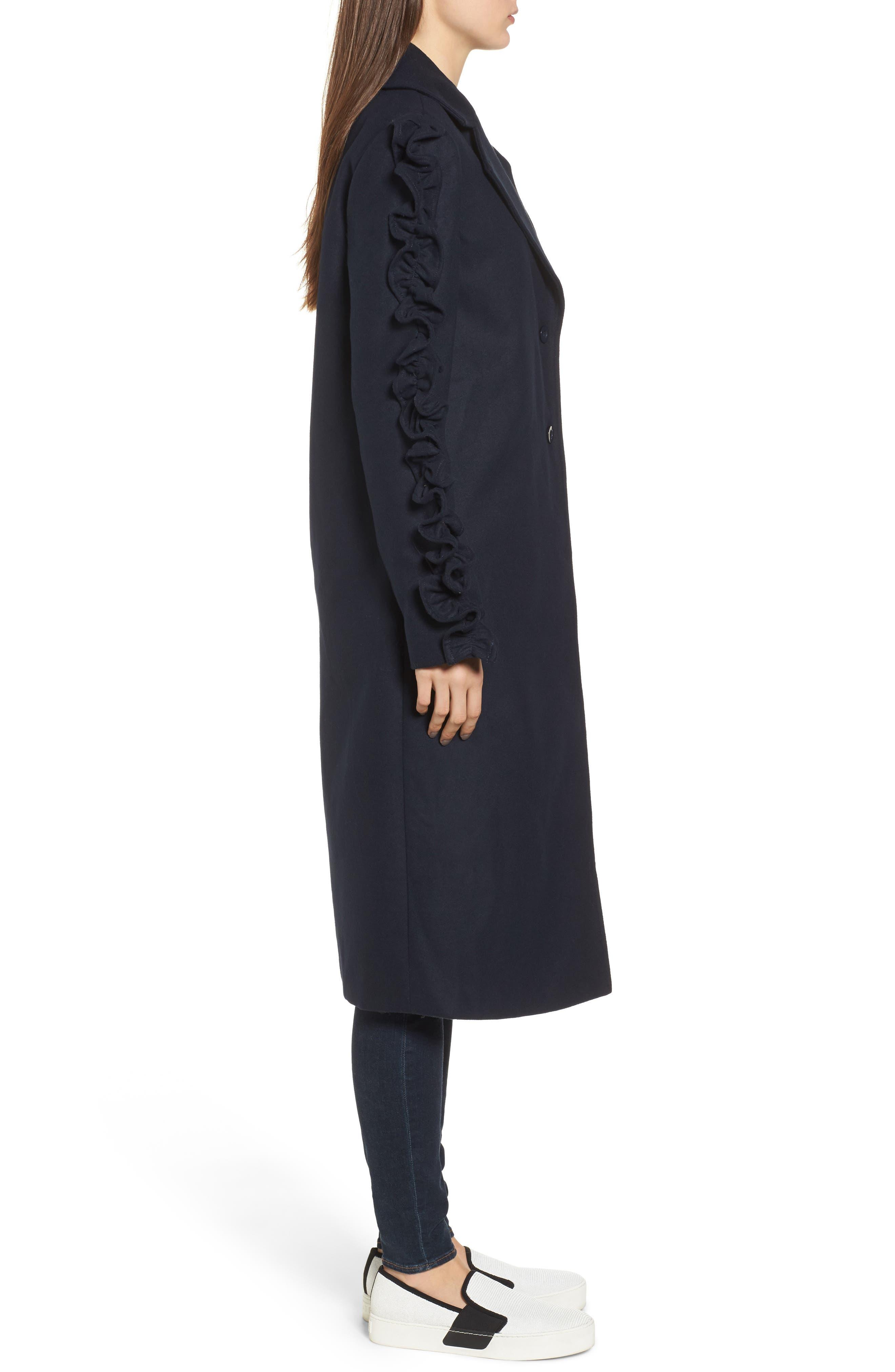 Alternate Image 4  - The Fifth Label Narrative Ruffle Sleeve Coat