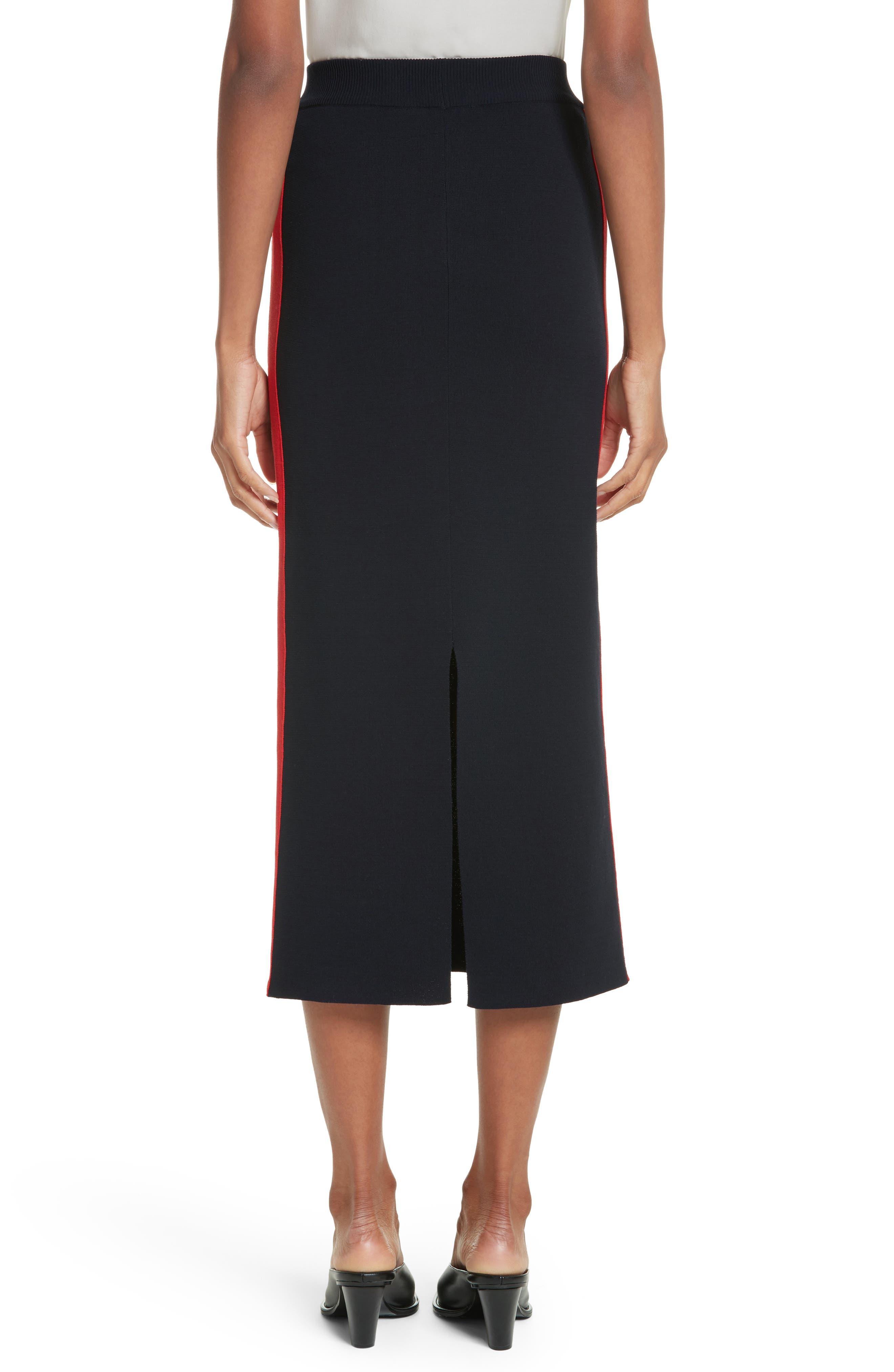 Stripe Cotton Skirt,                             Alternate thumbnail 2, color,                             Ink