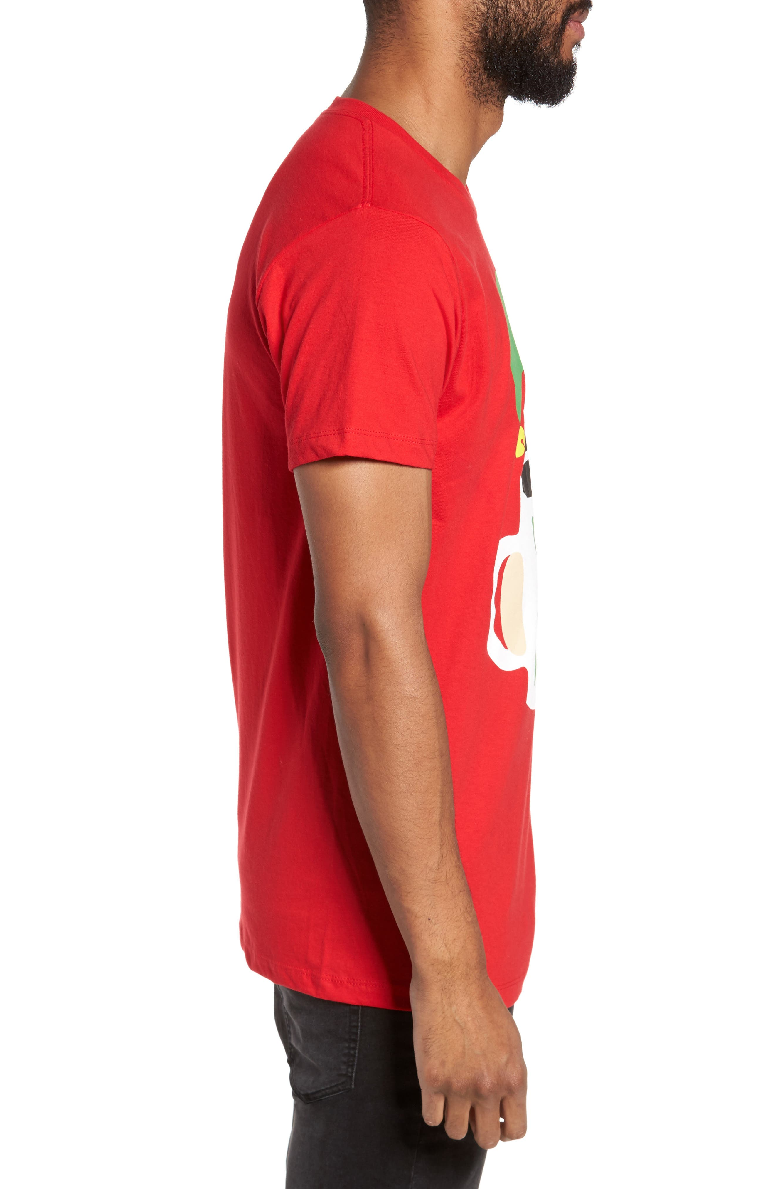 Stay Woke T-Shirt,                             Alternate thumbnail 3, color,                             Red Stay Woke