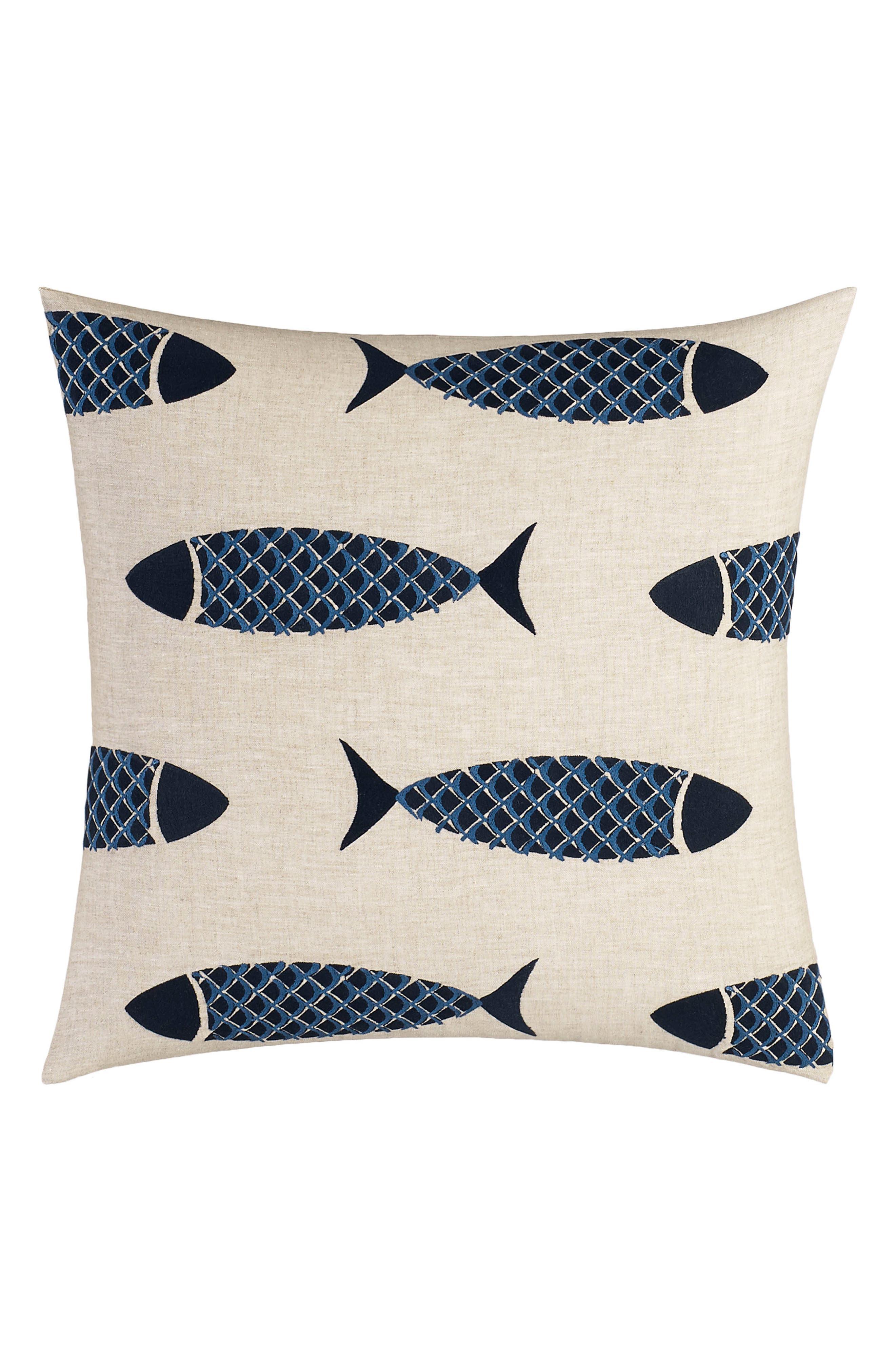 Alternate Image 1 Selected - Nautica Lockridge Embroidered Pillow