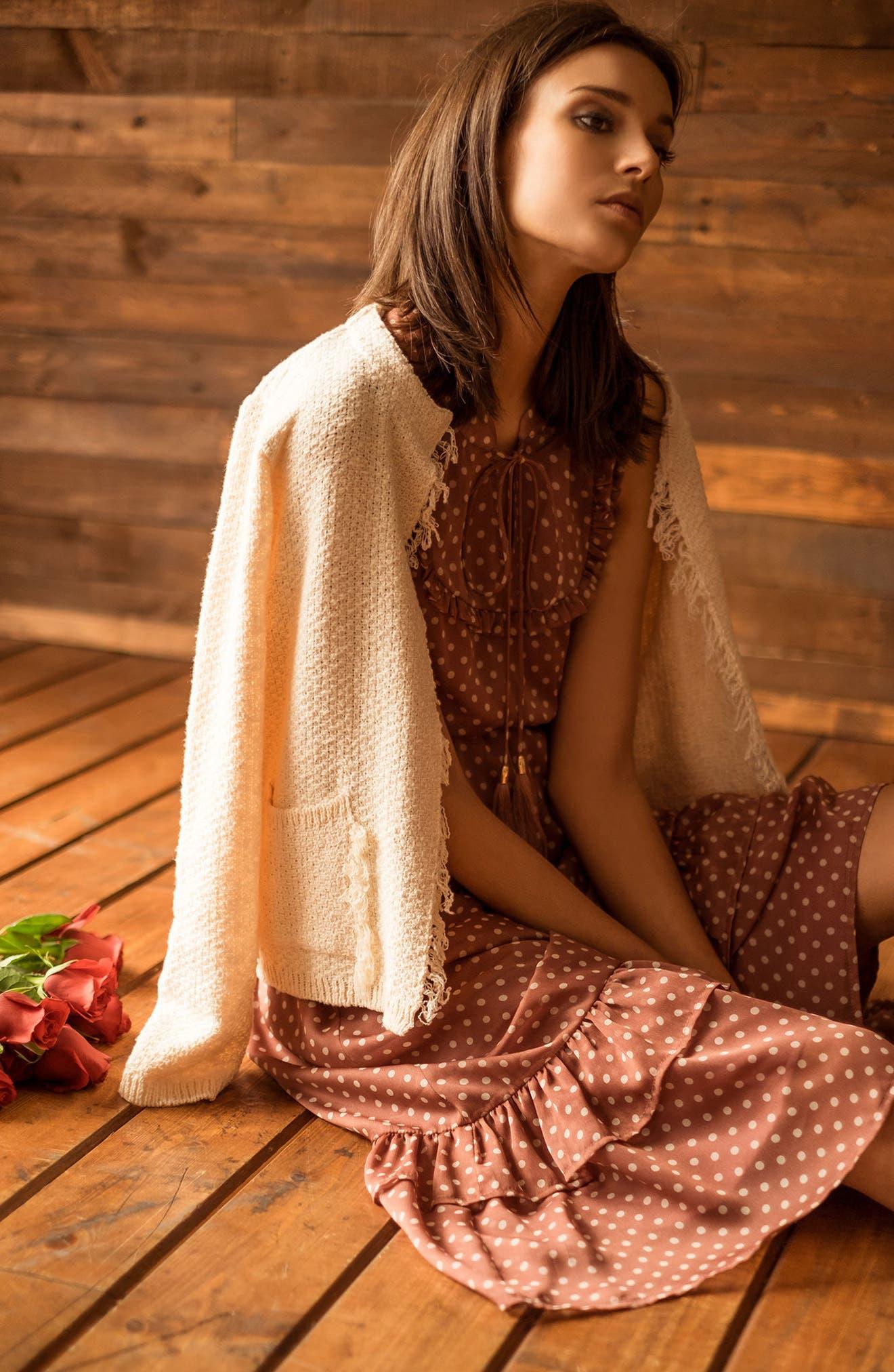 Alternate Image 2  - MOON RIVER Ruffle Midi Dress