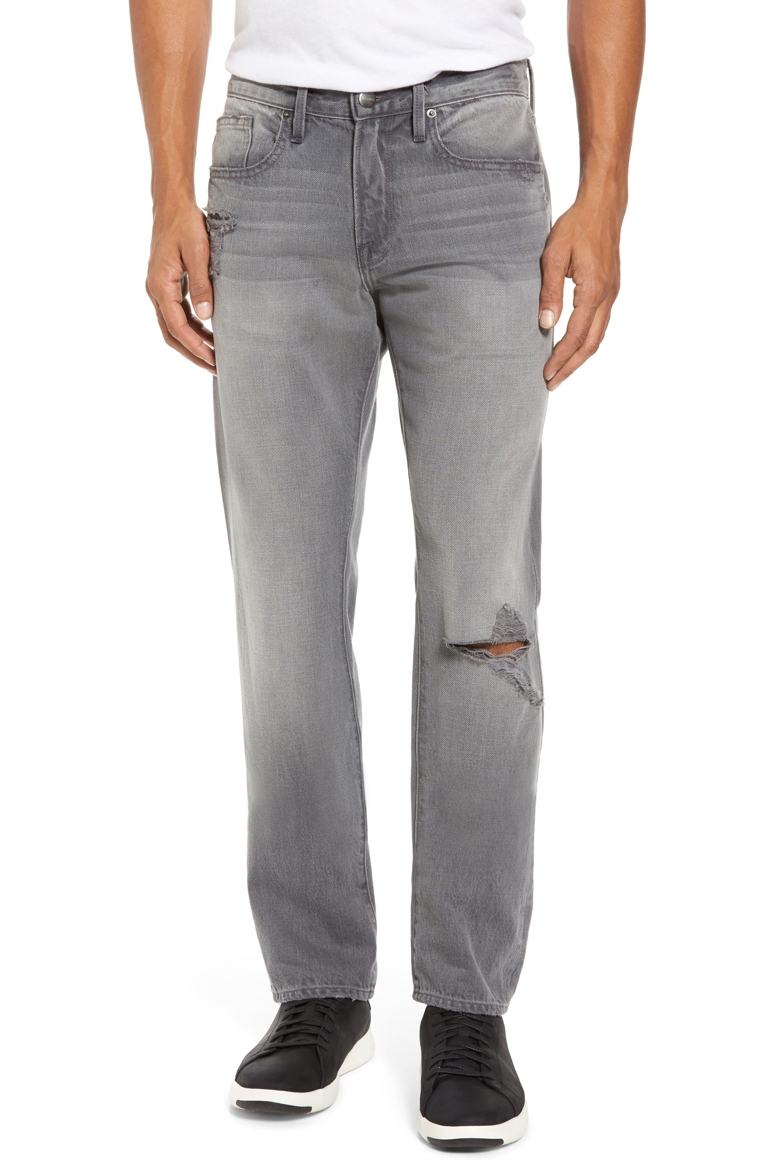 frame l 39 homme slim fit jeans in grayfox modesens. Black Bedroom Furniture Sets. Home Design Ideas
