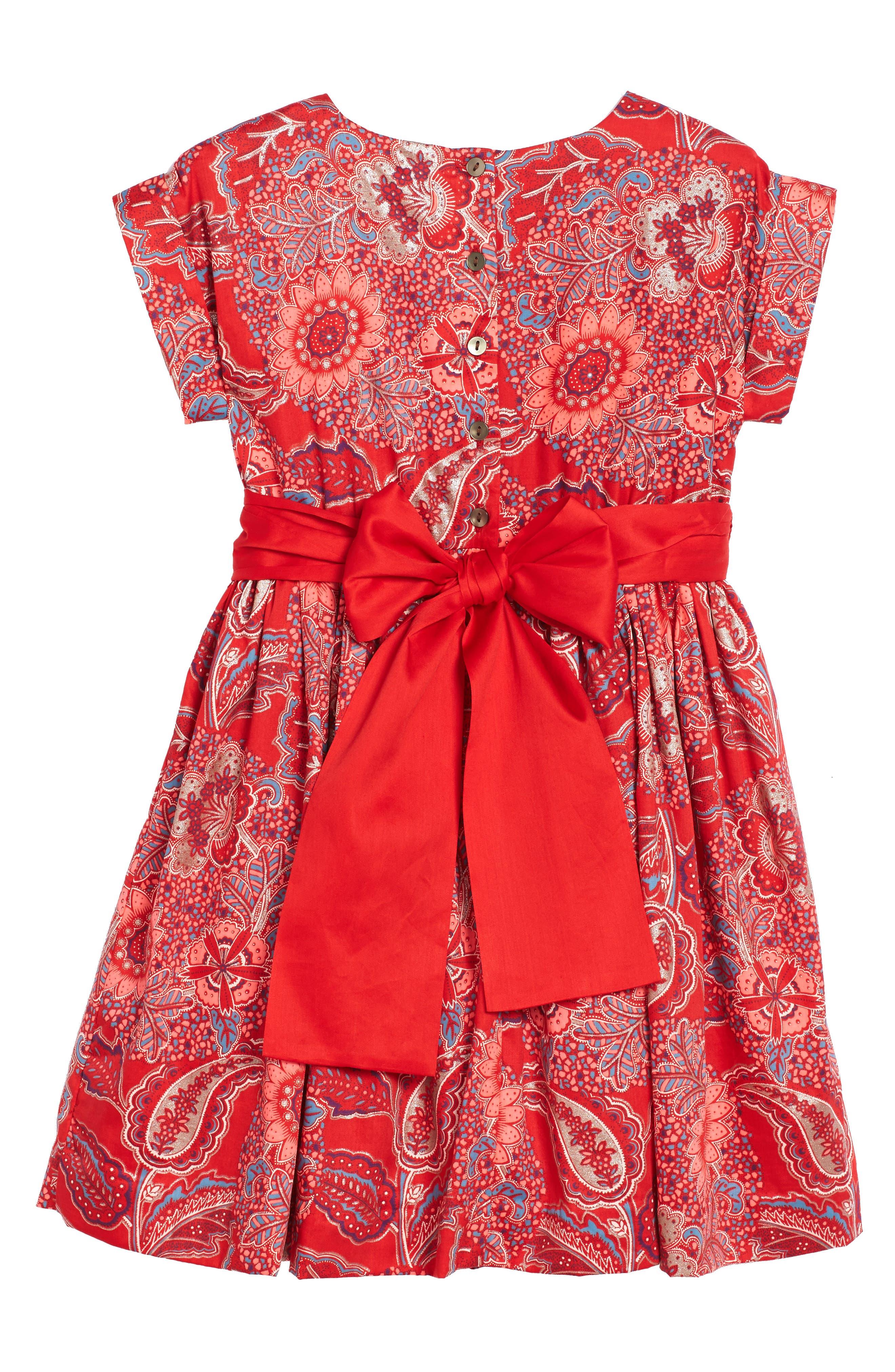 Alternate Image 2  - Tea Collection Adaira Sash Dress (Toddler Girls, Little Girls & Big Girls)